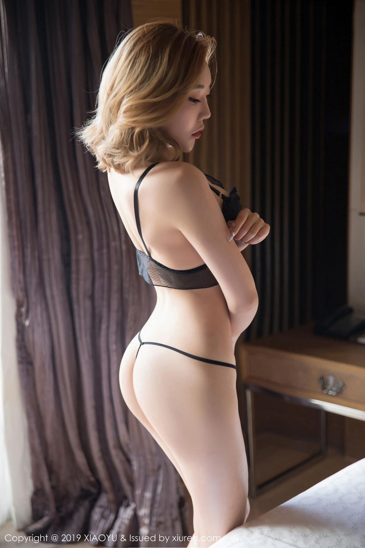 [XiaoYu] Vol.050 Hanyao Meng 32P, Black Silk, Meng Han Yao, Underwear, XiaoYu