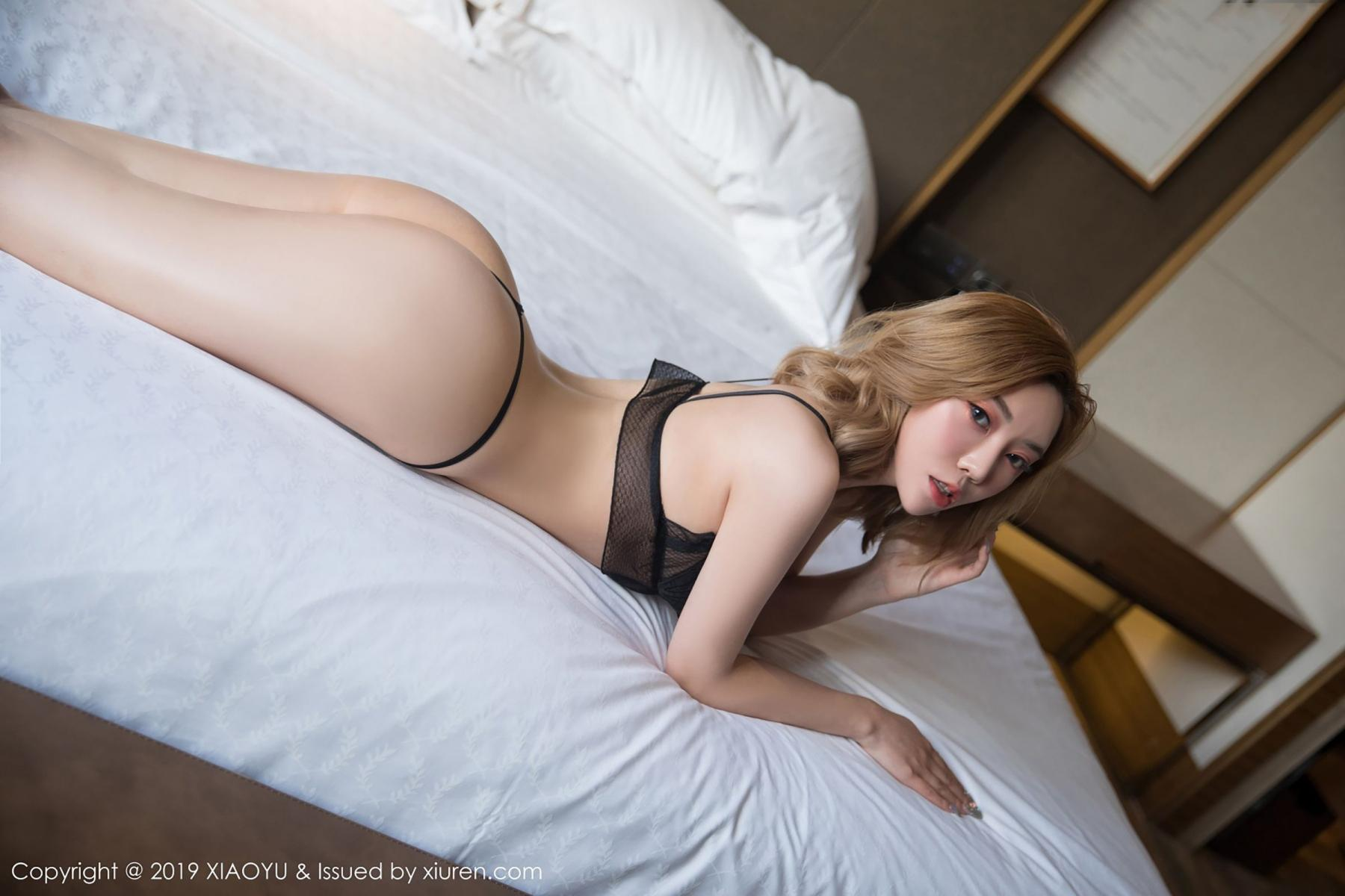 [XiaoYu] Vol.050 Hanyao Meng 45P, Black Silk, Meng Han Yao, Underwear, XiaoYu