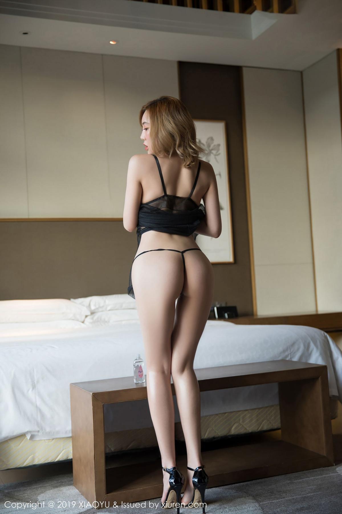 [XiaoYu] Vol.050 Hanyao Meng 4P, Black Silk, Meng Han Yao, Underwear, XiaoYu