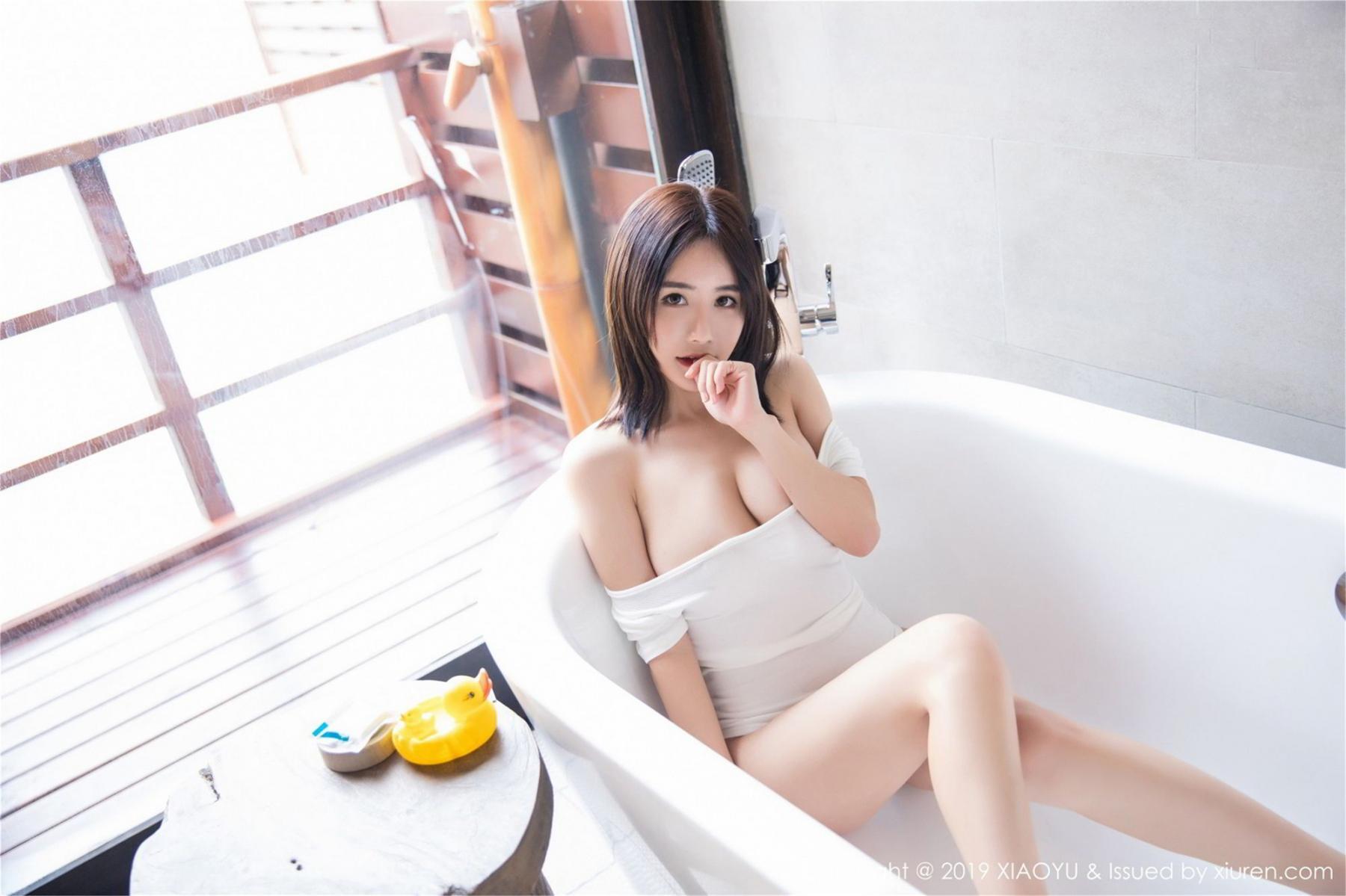 [XiaoYu] Vol.060 Xiao Mo Lin 27P, Bathroom, Lin Lin Ailin, Wet, XiaoYu