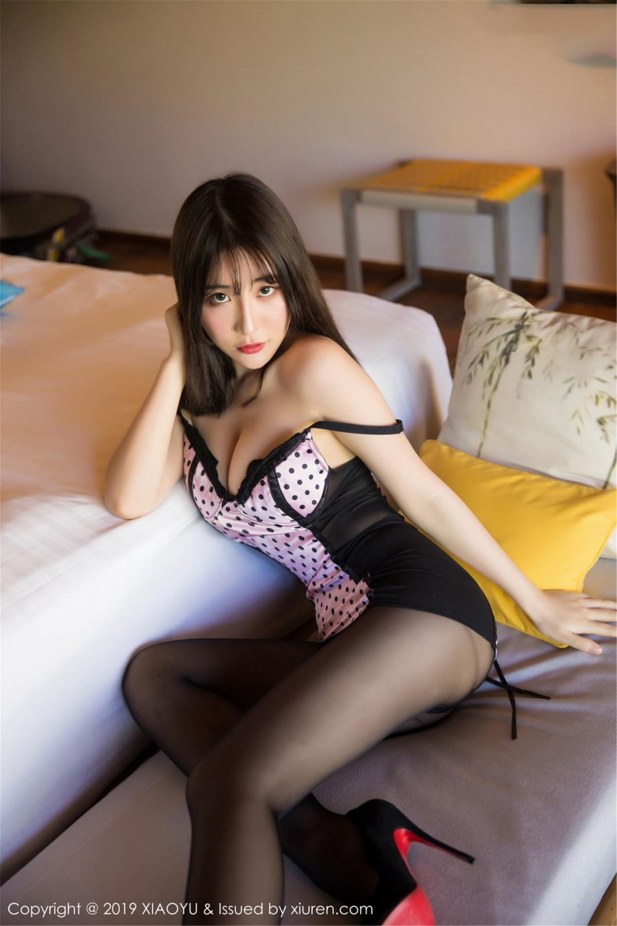 [XiaoYu] Vol.061 Ying Yue Fei 13P, Black Silk, Tall, Underwear, XiaoYu, Xie Zhi Xin