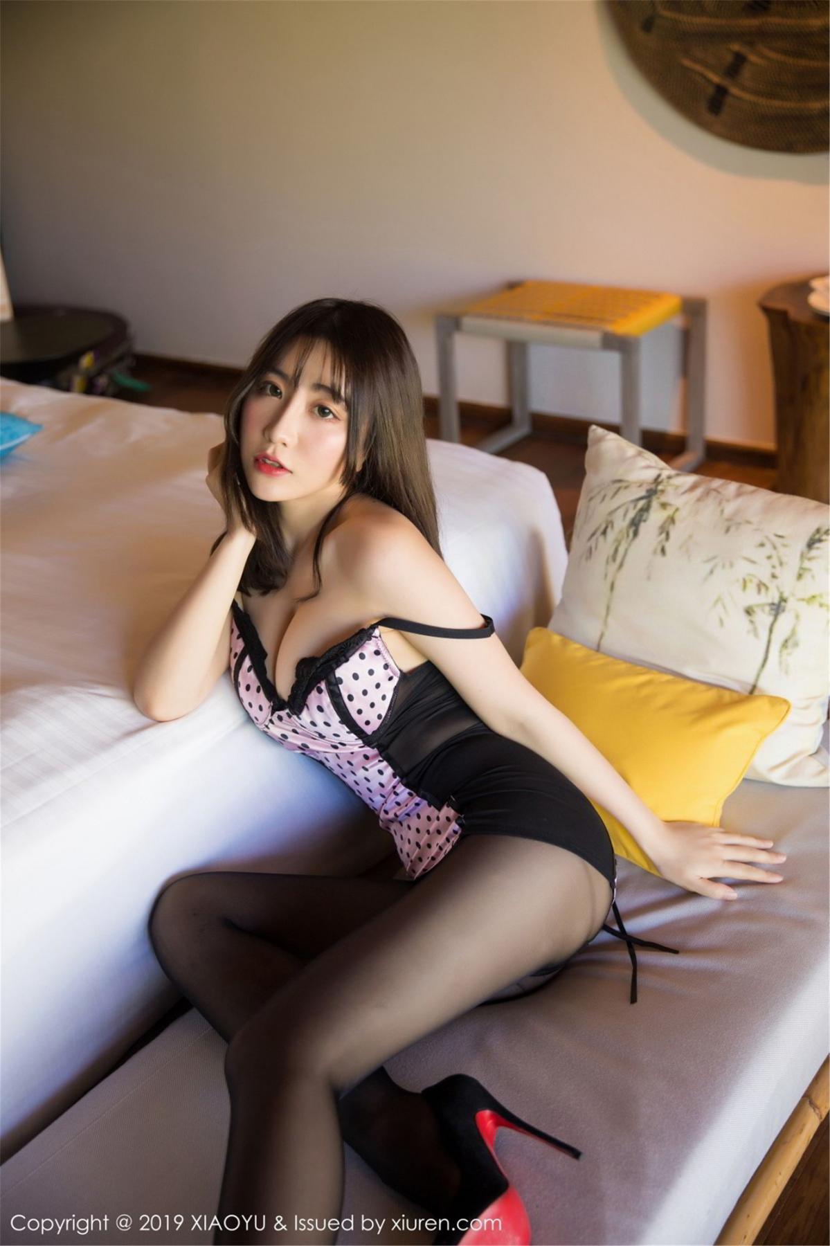 [XiaoYu] Vol.061 Ying Yue Fei 14P, Black Silk, Tall, Underwear, XiaoYu, Xie Zhi Xin