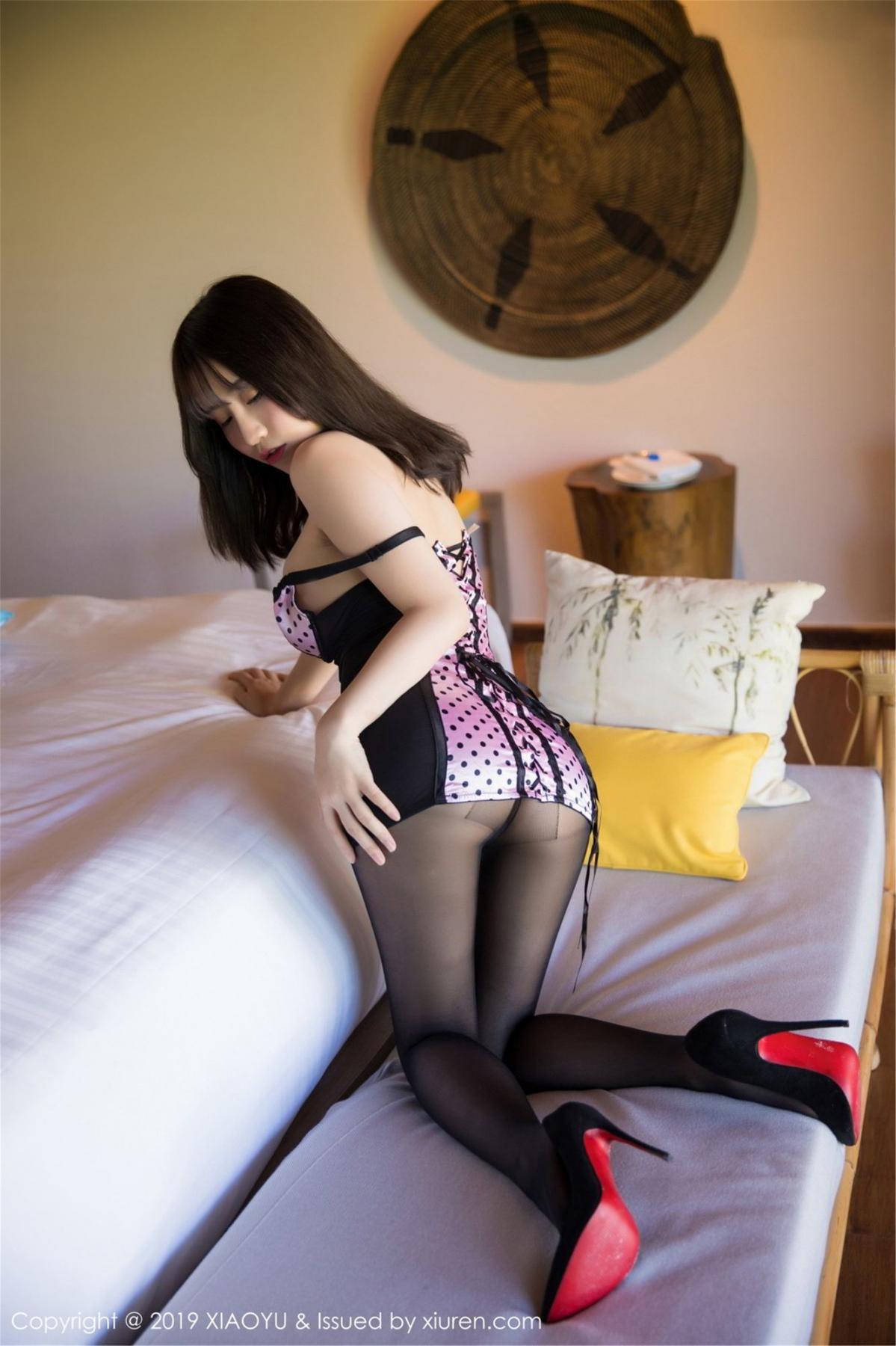 [XiaoYu] Vol.061 Ying Yue Fei 18P, Black Silk, Tall, Underwear, XiaoYu, Xie Zhi Xin