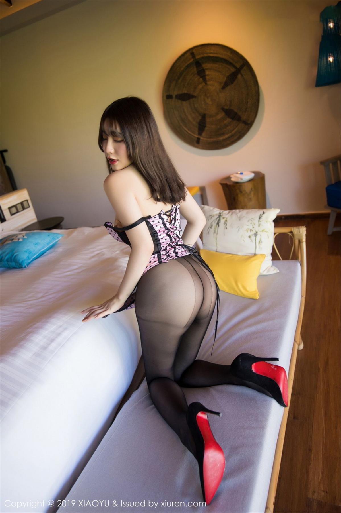 [XiaoYu] Vol.061 Ying Yue Fei 20P, Black Silk, Tall, Underwear, XiaoYu, Xie Zhi Xin