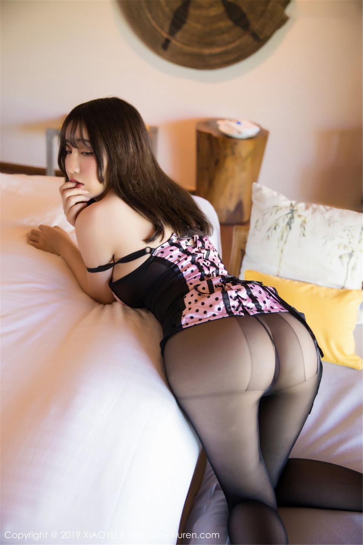 [XiaoYu] Vol.061 Ying Yue Fei 21P, Black Silk, Tall, Underwear, XiaoYu, Xie Zhi Xin