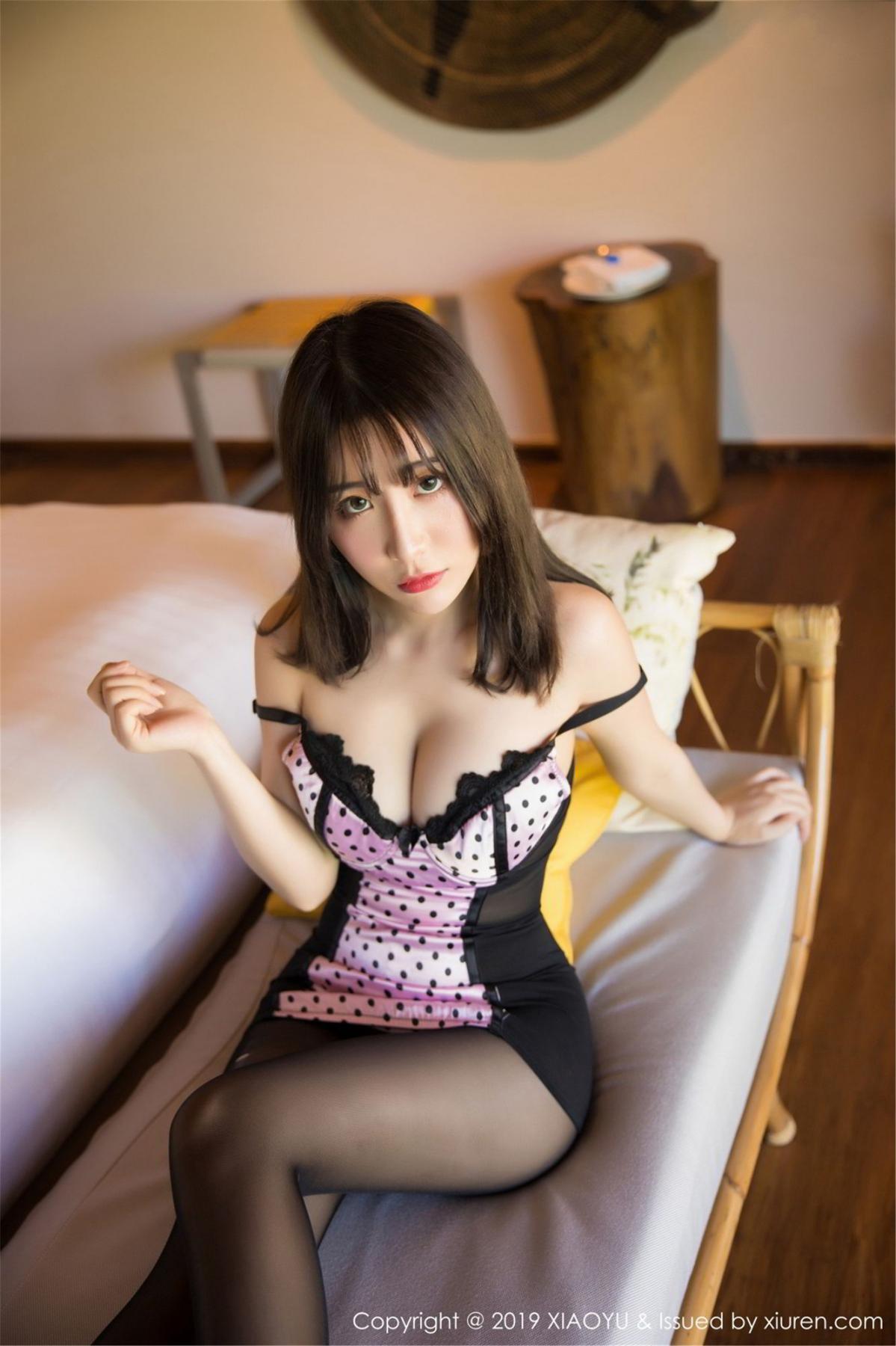 [XiaoYu] Vol.061 Ying Yue Fei 8P, Black Silk, Tall, Underwear, XiaoYu, Xie Zhi Xin