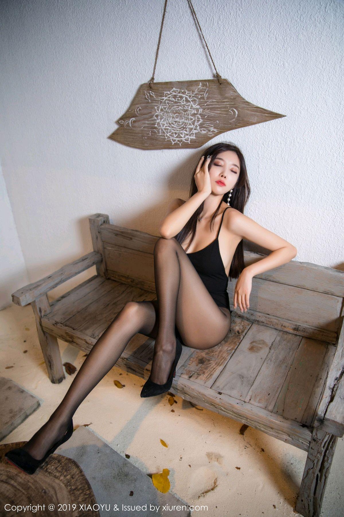 [XiaoYu] Vol.062 sugar 11P, Black Silk, Tall, XiaoYu, Yang Chen Chen