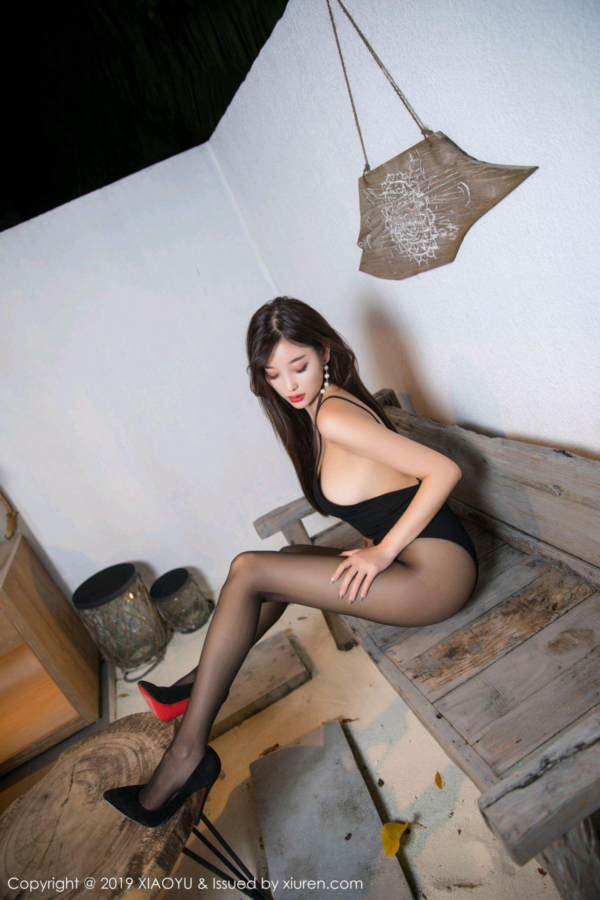 [XiaoYu] Vol.062 sugar 12P, Black Silk, Tall, XiaoYu, Yang Chen Chen