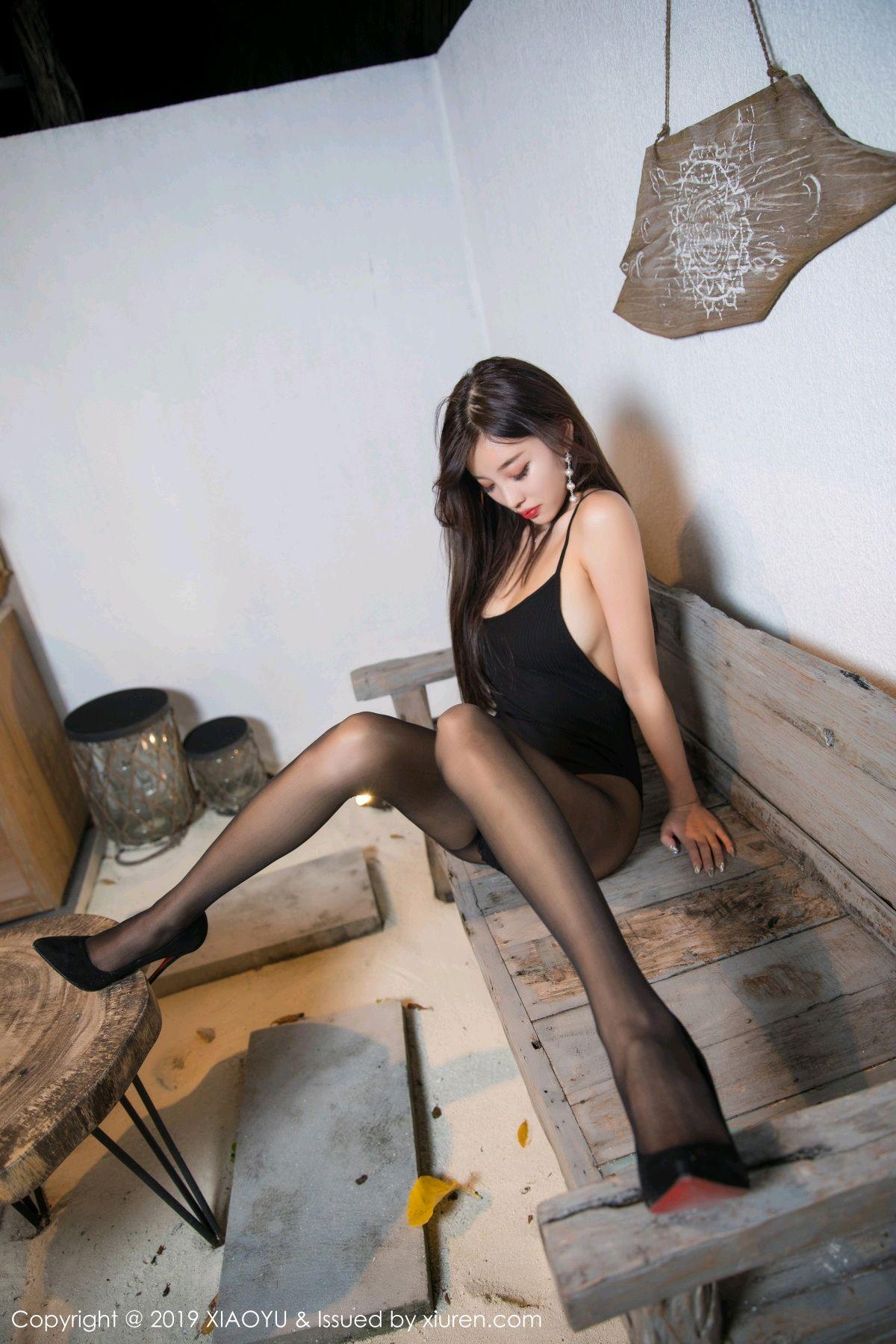 [XiaoYu] Vol.062 sugar 13P, Black Silk, Tall, XiaoYu, Yang Chen Chen