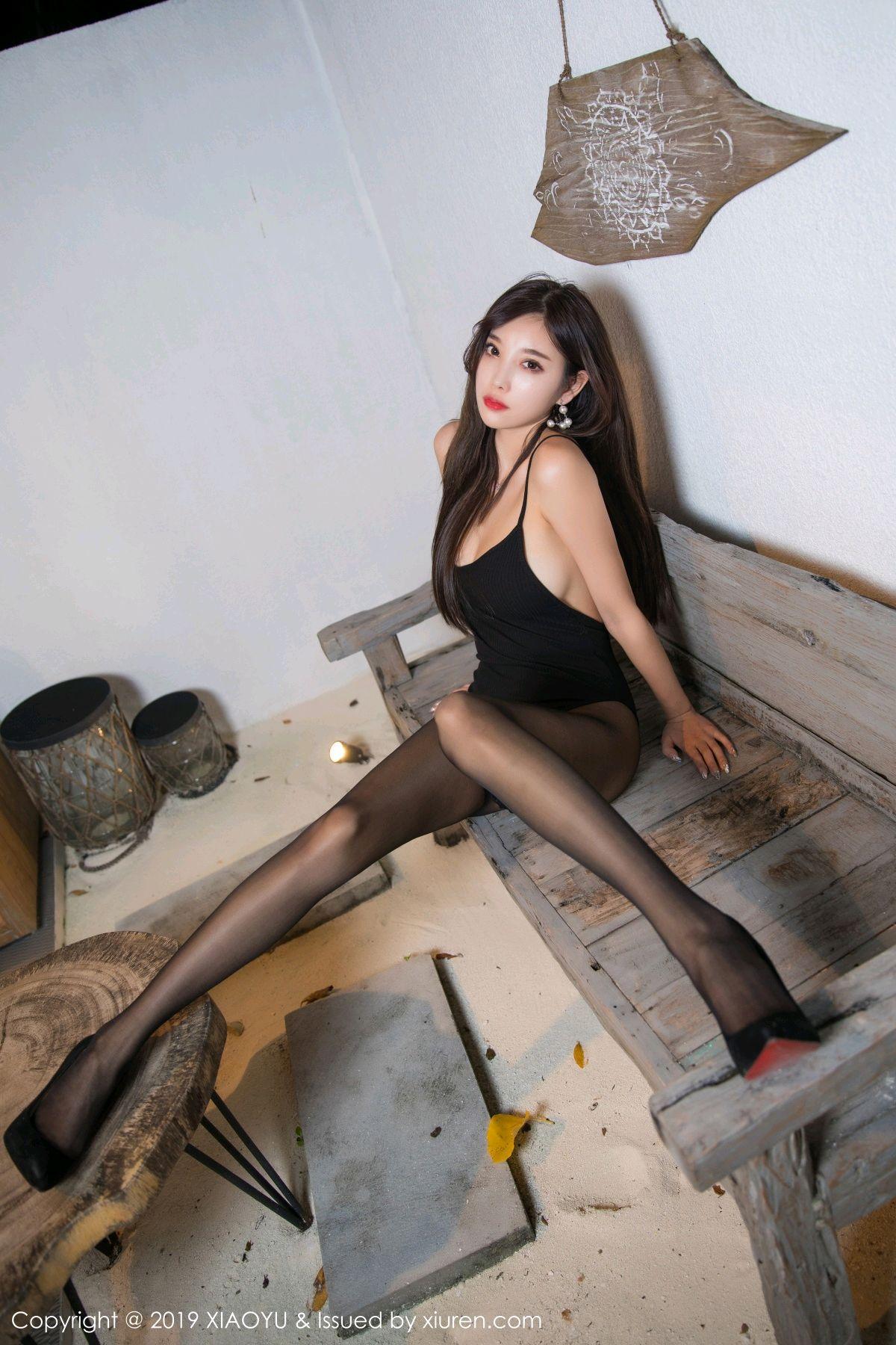 [XiaoYu] Vol.062 sugar 15P, Black Silk, Tall, XiaoYu, Yang Chen Chen
