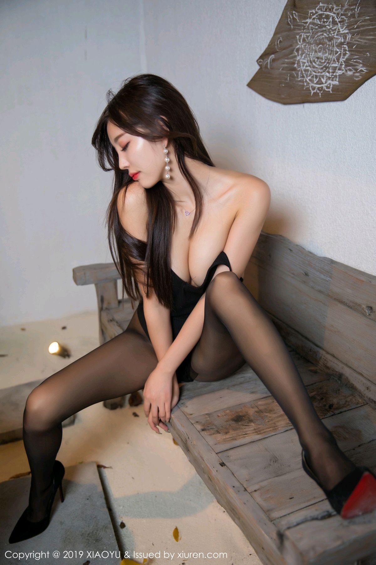 [XiaoYu] Vol.062 sugar 17P, Black Silk, Tall, XiaoYu, Yang Chen Chen