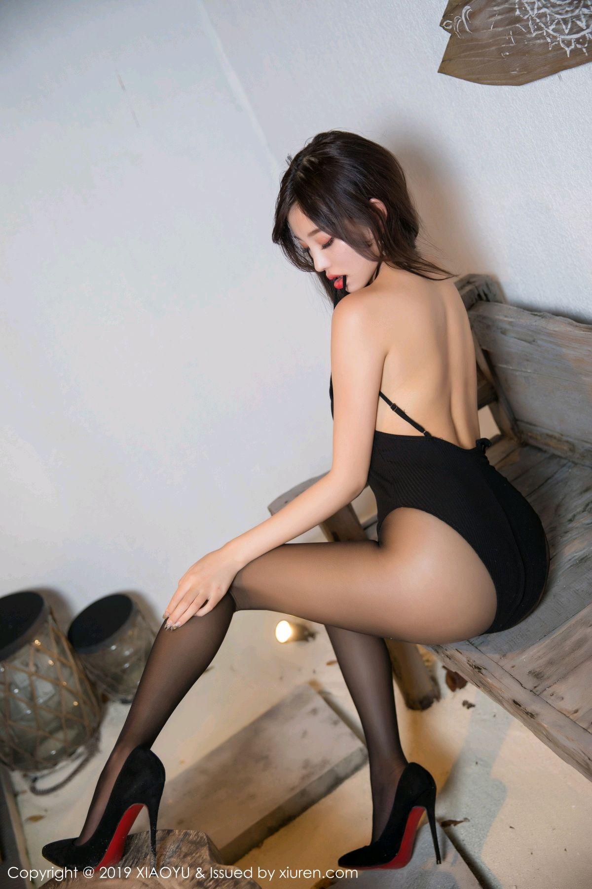 [XiaoYu] Vol.062 sugar 20P, Black Silk, Tall, XiaoYu, Yang Chen Chen