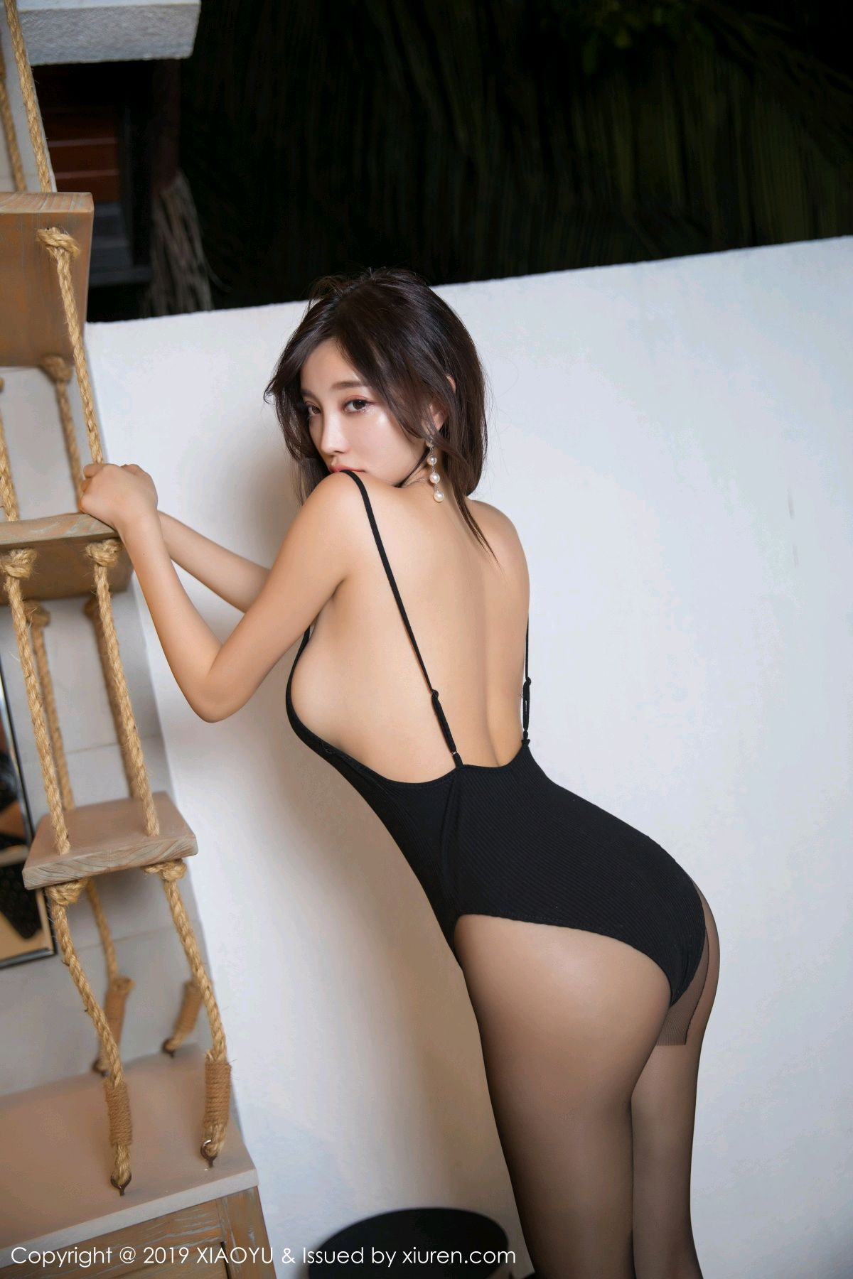 [XiaoYu] Vol.062 sugar 21P, Black Silk, Tall, XiaoYu, Yang Chen Chen