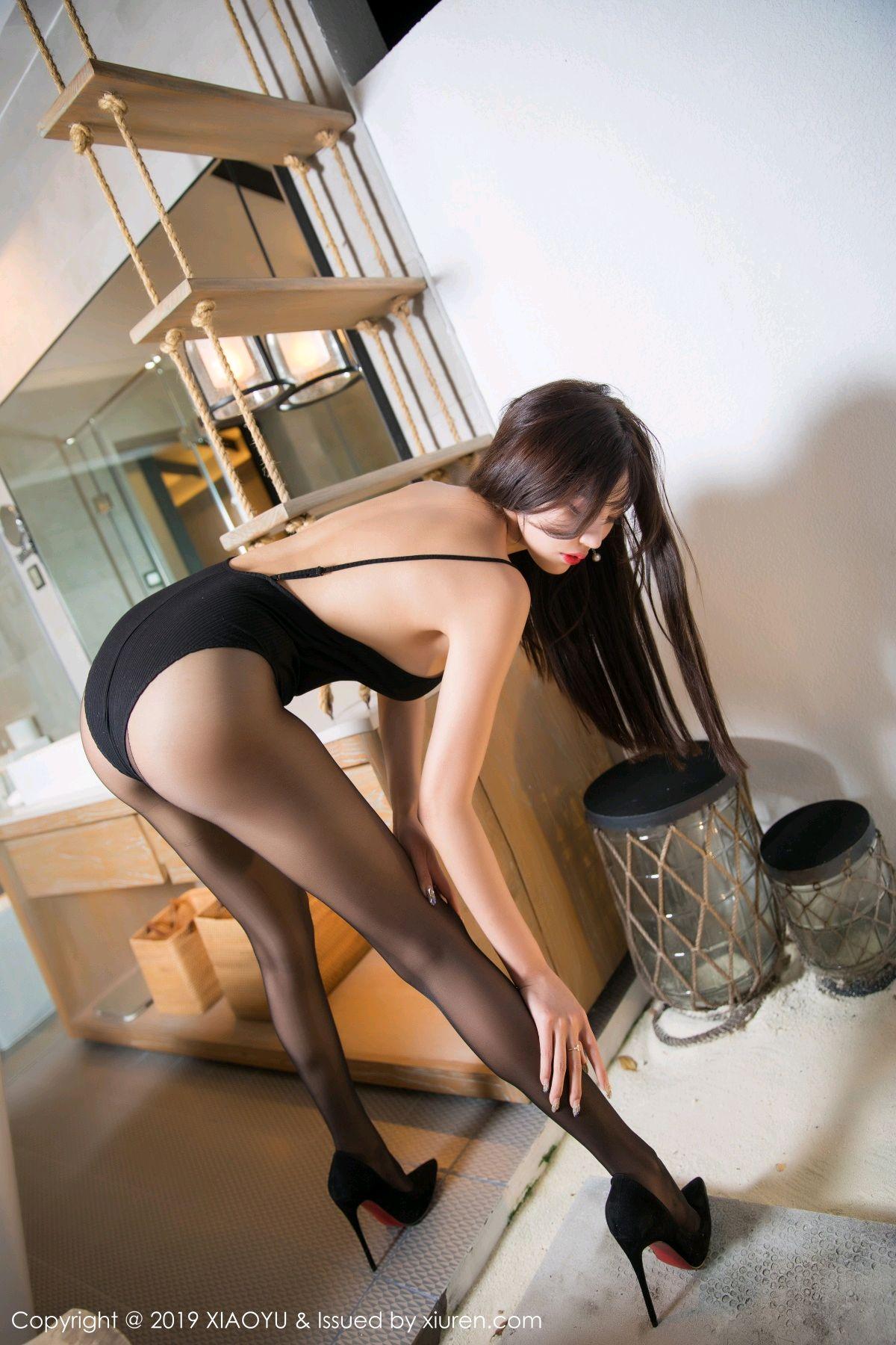 [XiaoYu] Vol.062 sugar 25P, Black Silk, Tall, XiaoYu, Yang Chen Chen