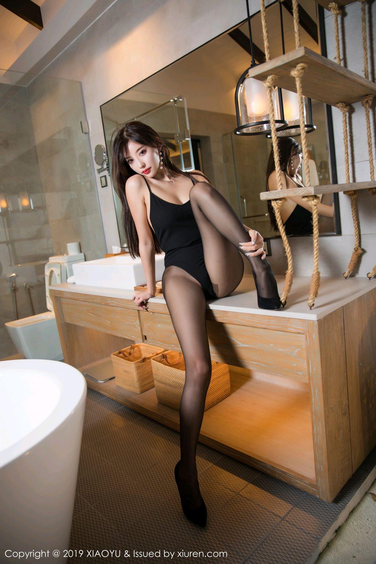 [XiaoYu] Vol.062 sugar 29P, Black Silk, Tall, XiaoYu, Yang Chen Chen