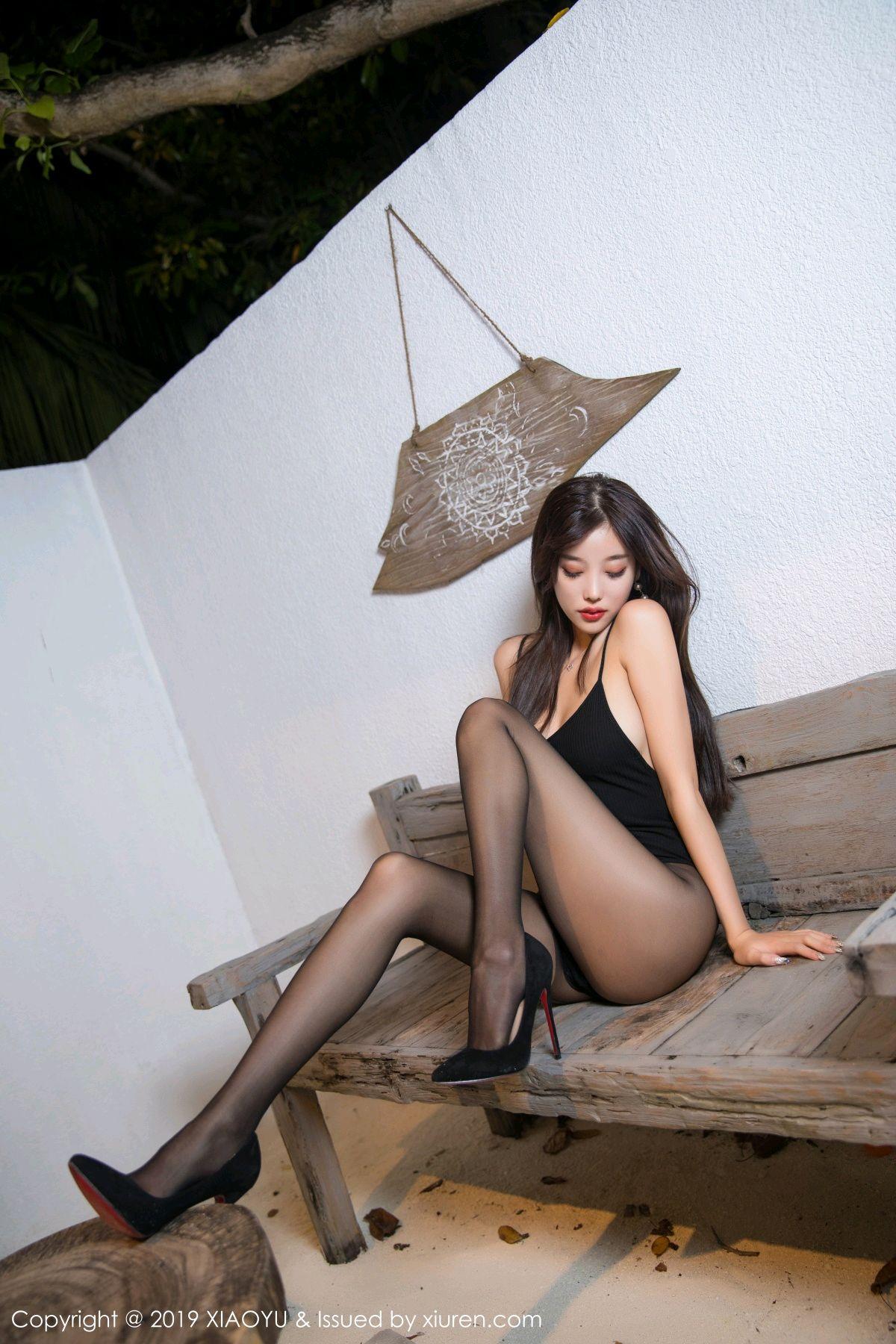[XiaoYu] Vol.062 sugar 2P, Black Silk, Tall, XiaoYu, Yang Chen Chen