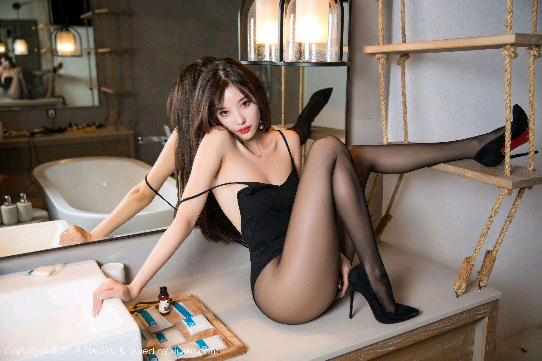 [XiaoYu] Vol.062 sugar 35P, Black Silk, Tall, XiaoYu, Yang Chen Chen