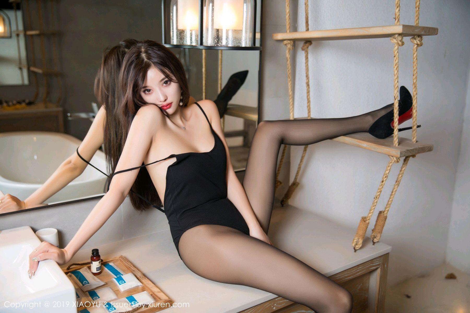 [XiaoYu] Vol.062 sugar 36P, Black Silk, Tall, XiaoYu, Yang Chen Chen