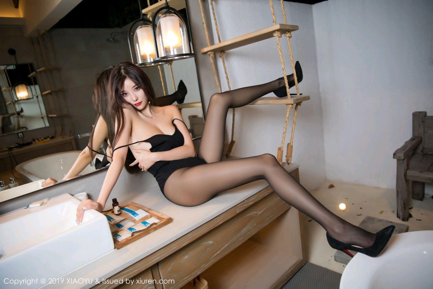 [XiaoYu] Vol.062 sugar 40P, Black Silk, Tall, XiaoYu, Yang Chen Chen