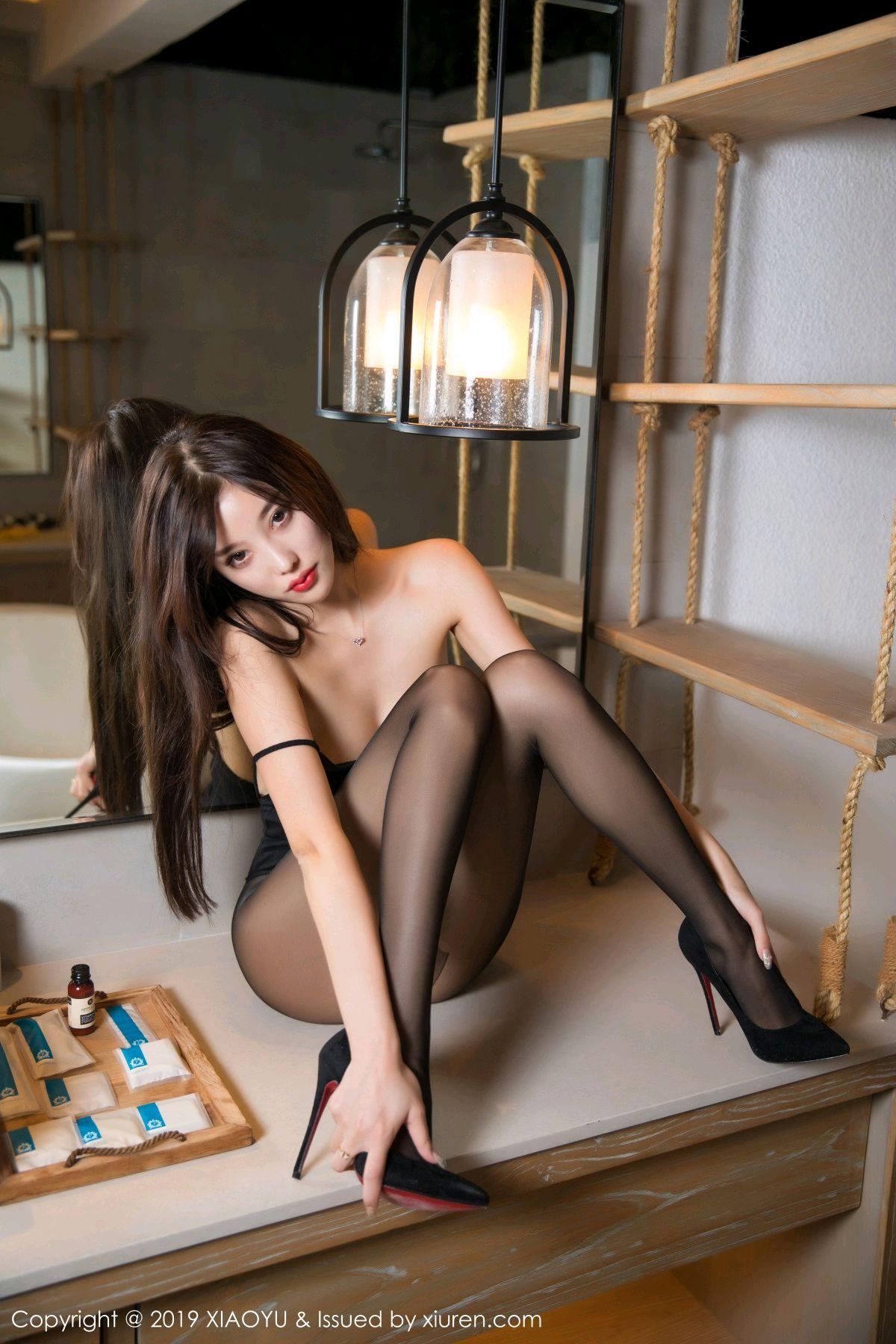 [XiaoYu] Vol.062 sugar 43P, Black Silk, Tall, XiaoYu, Yang Chen Chen