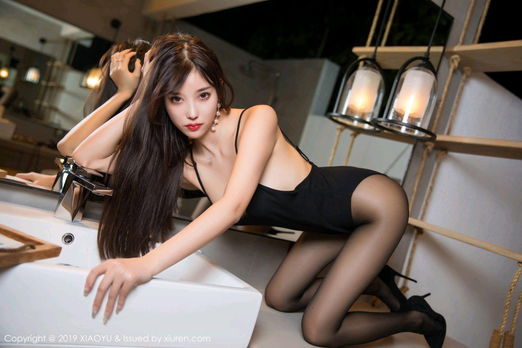 [XiaoYu] Vol.062 sugar 54P, Black Silk, Tall, XiaoYu, Yang Chen Chen
