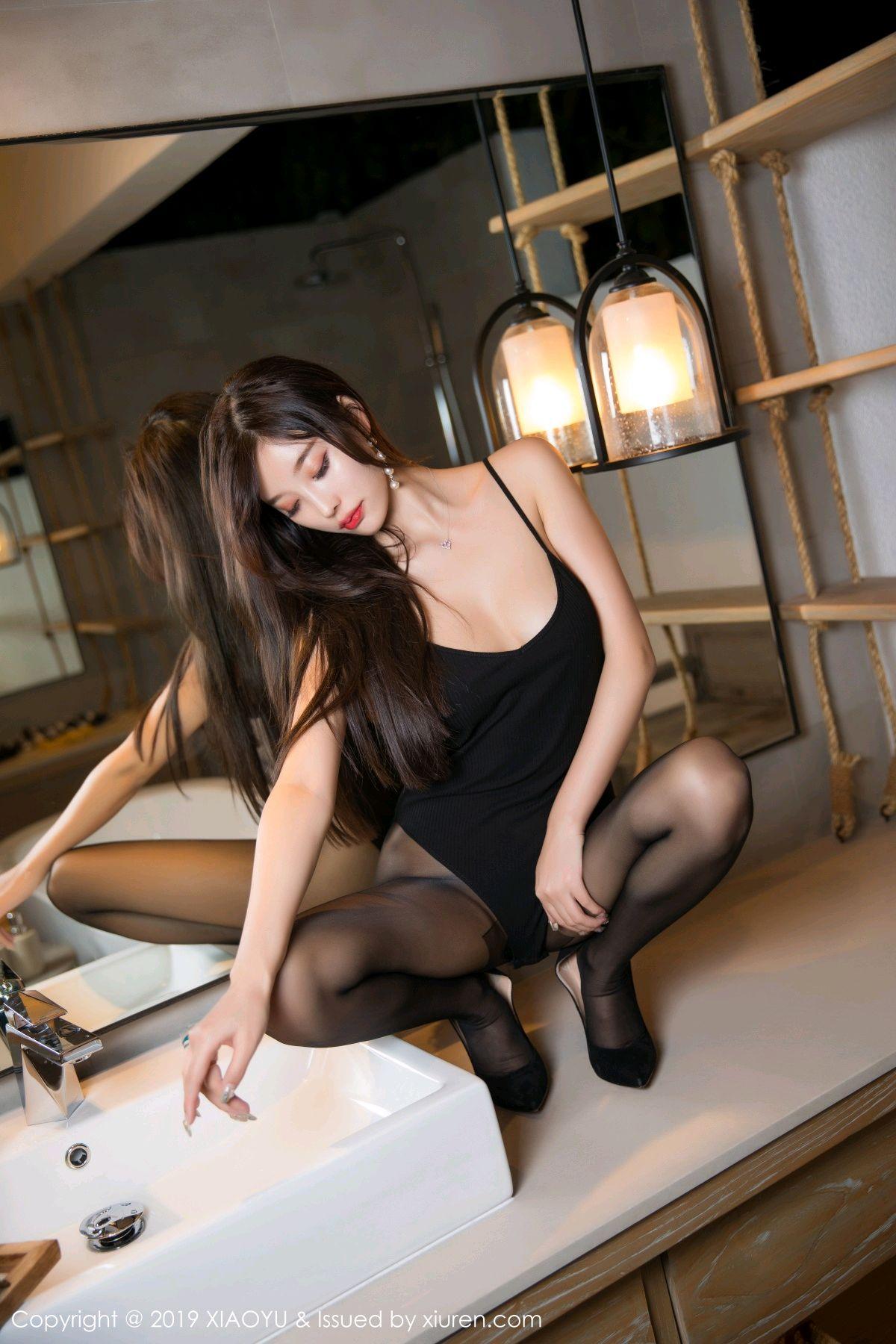 [XiaoYu] Vol.062 sugar 55P, Black Silk, Tall, XiaoYu, Yang Chen Chen