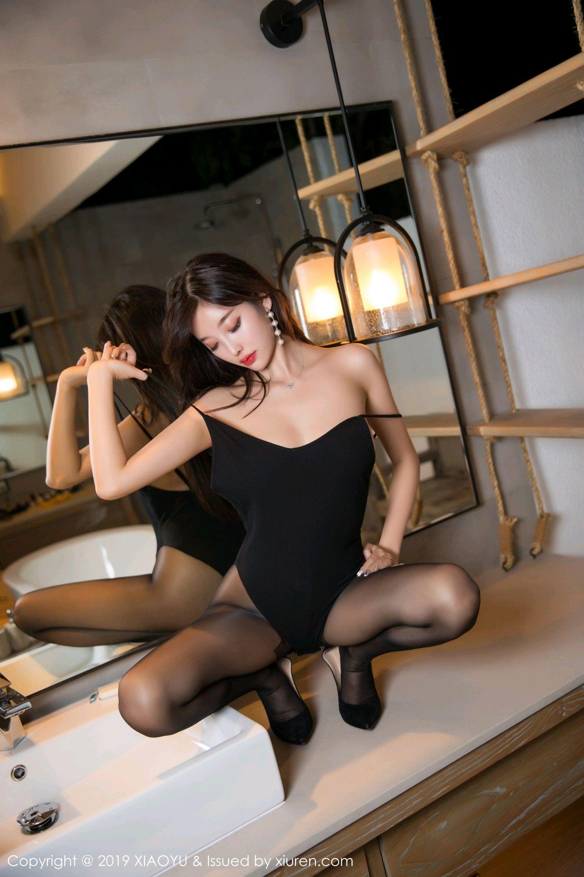 [XiaoYu] Vol.062 sugar 56P, Black Silk, Tall, XiaoYu, Yang Chen Chen