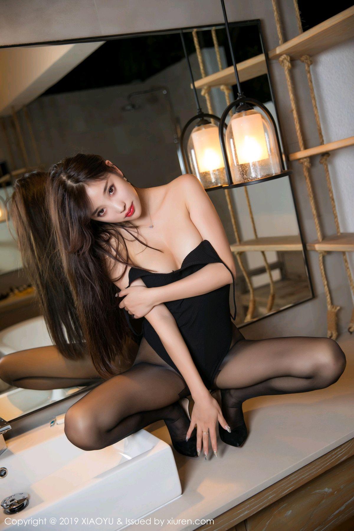 [XiaoYu] Vol.062 sugar 58P, Black Silk, Tall, XiaoYu, Yang Chen Chen