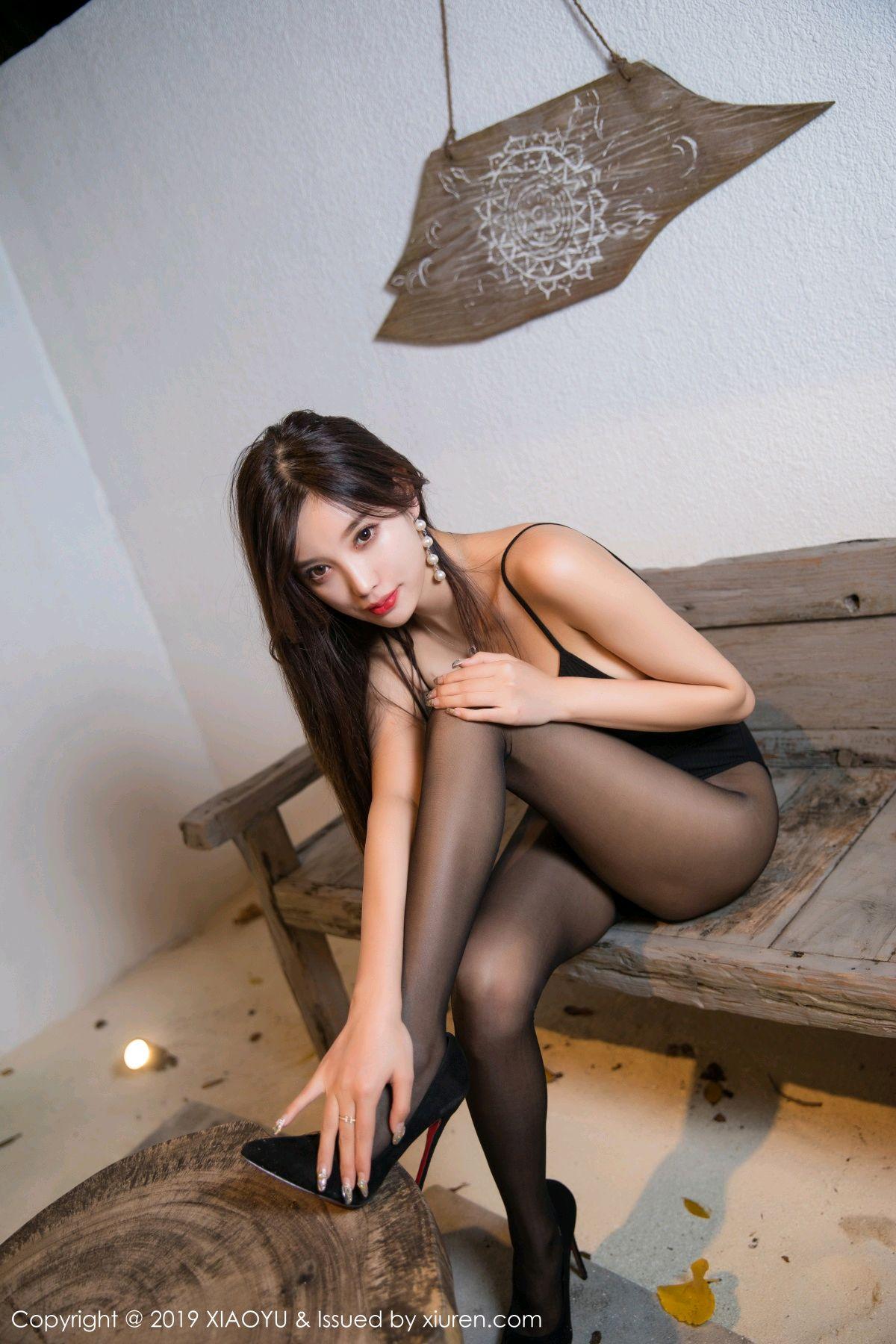[XiaoYu] Vol.062 sugar 6P, Black Silk, Tall, XiaoYu, Yang Chen Chen