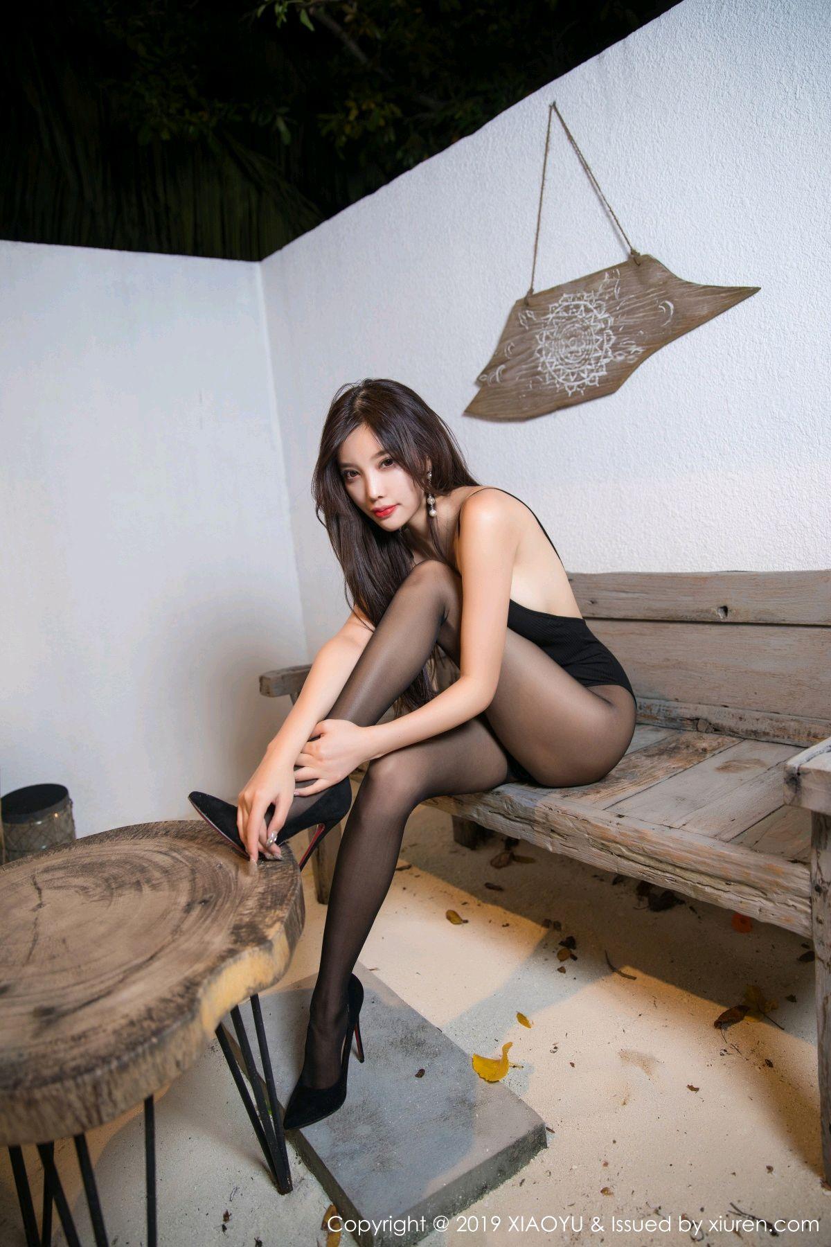 [XiaoYu] Vol.062 sugar 7P, Black Silk, Tall, XiaoYu, Yang Chen Chen
