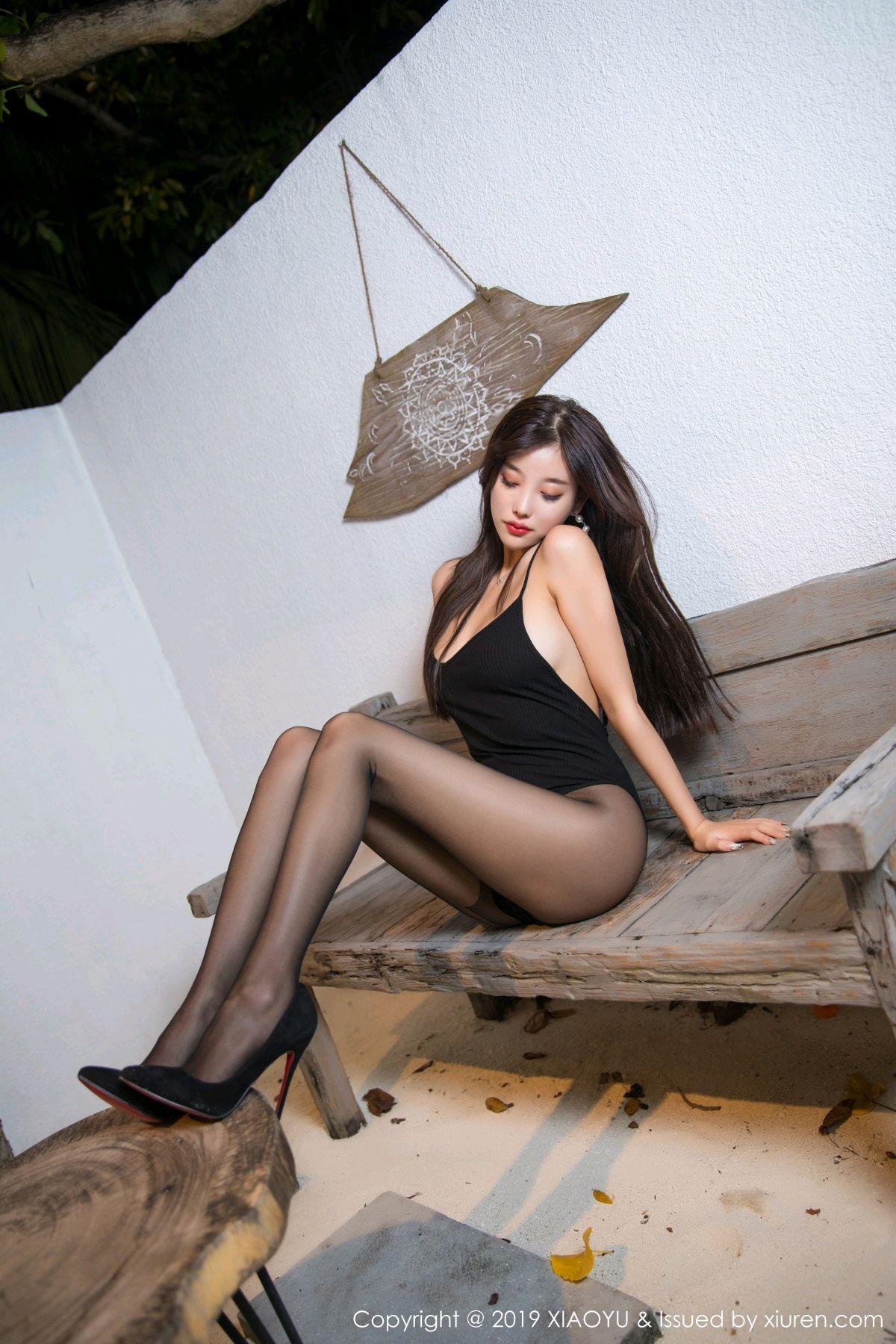 [XiaoYu] Vol.062 sugar 9P, Black Silk, Tall, XiaoYu, Yang Chen Chen