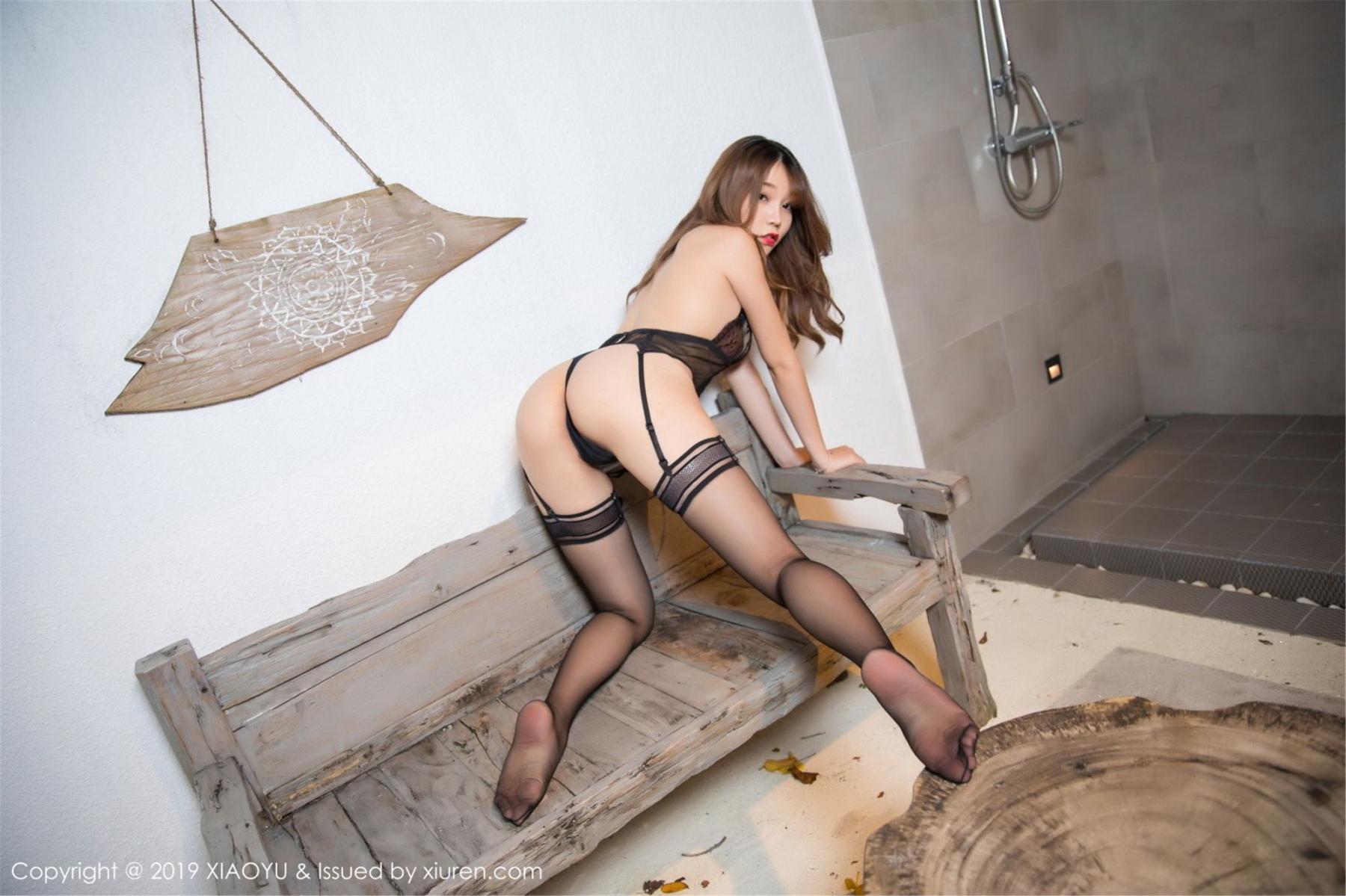 [XiaoYu] Vol.063 Booty 13P, Bathroom, Big Booty, Black Silk, Chen Zhi, XiaoYu