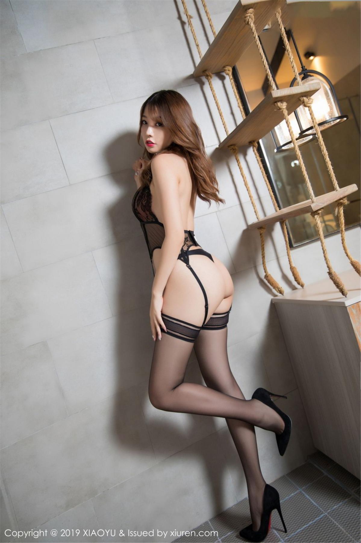 [XiaoYu] Vol.063 Booty 15P, Bathroom, Big Booty, Black Silk, Chen Zhi, XiaoYu