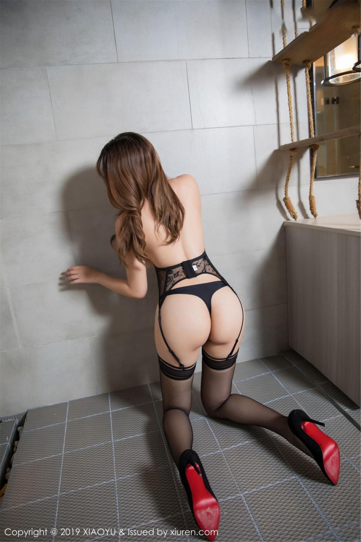 [XiaoYu] Vol.063 Booty 21P, Bathroom, Big Booty, Black Silk, Chen Zhi, XiaoYu