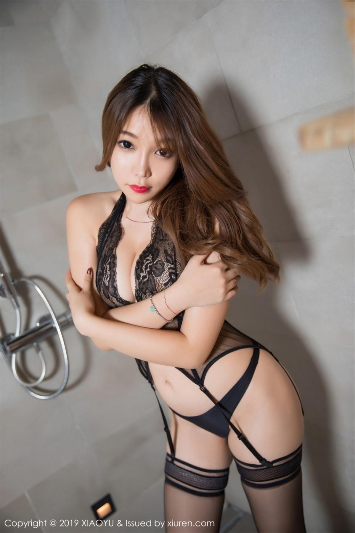 [XiaoYu] Vol.063 Booty 33P, Bathroom, Big Booty, Black Silk, Chen Zhi, XiaoYu