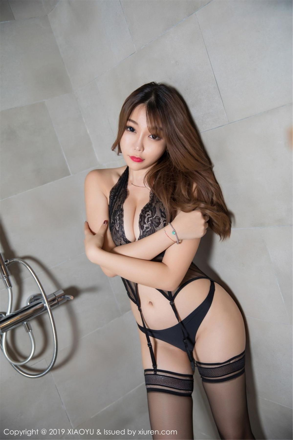 [XiaoYu] Vol.063 Booty 34P, Bathroom, Big Booty, Black Silk, Chen Zhi, XiaoYu