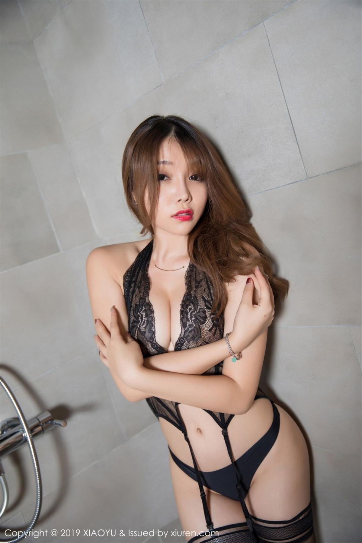 [XiaoYu] Vol.063 Booty 35P, Bathroom, Big Booty, Black Silk, Chen Zhi, XiaoYu