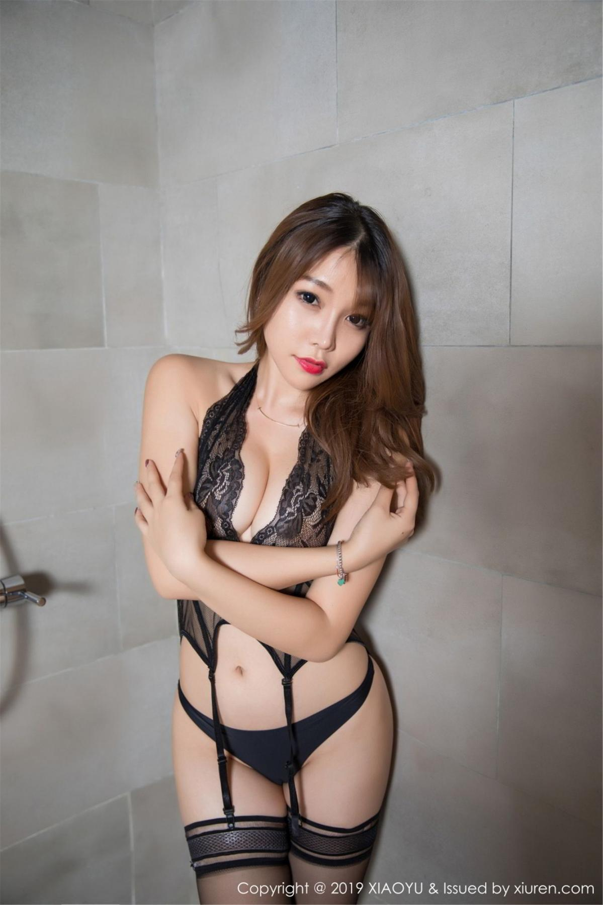 [XiaoYu] Vol.063 Booty 36P, Bathroom, Big Booty, Black Silk, Chen Zhi, XiaoYu