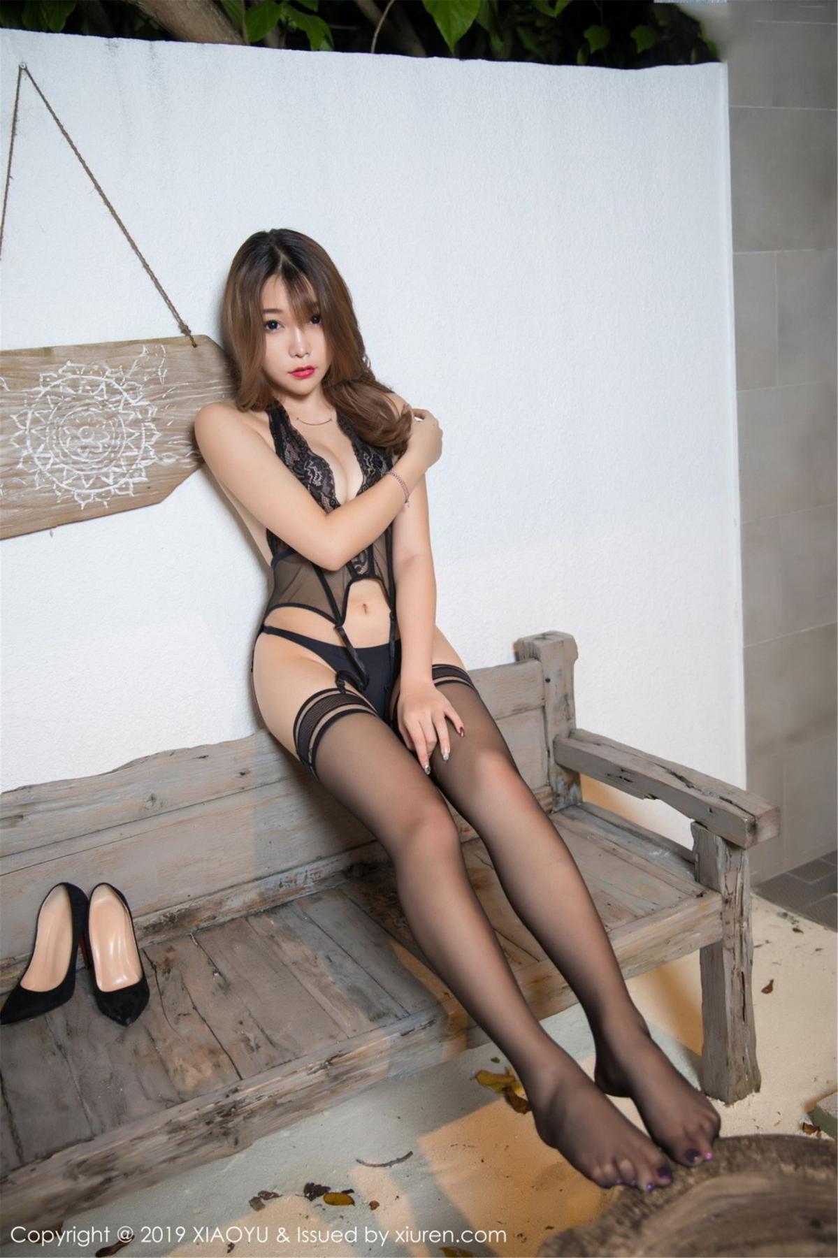 [XiaoYu] Vol.063 Booty 5P, Bathroom, Big Booty, Black Silk, Chen Zhi, XiaoYu