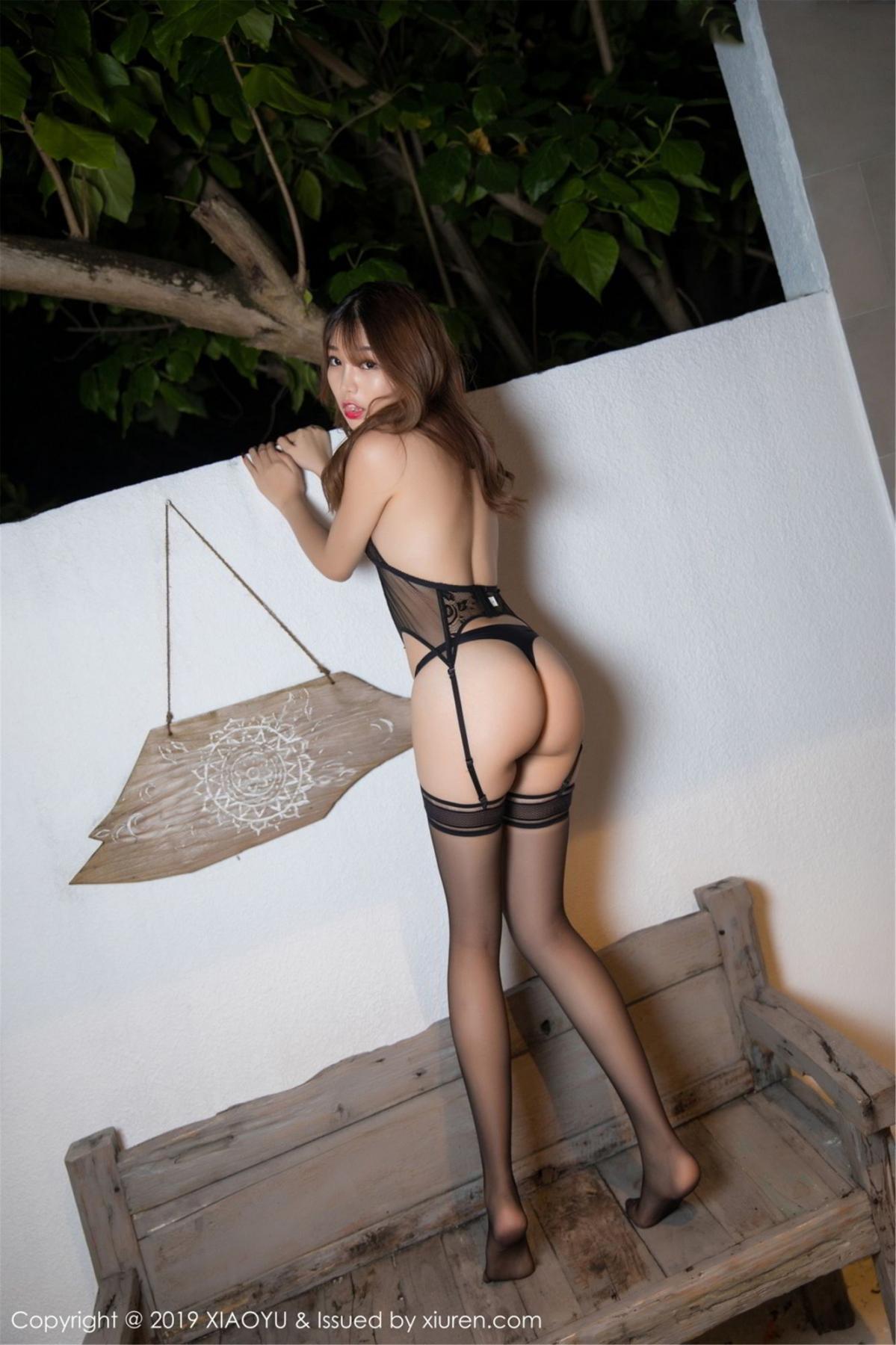 [XiaoYu] Vol.063 Booty 8P, Bathroom, Big Booty, Black Silk, Chen Zhi, XiaoYu