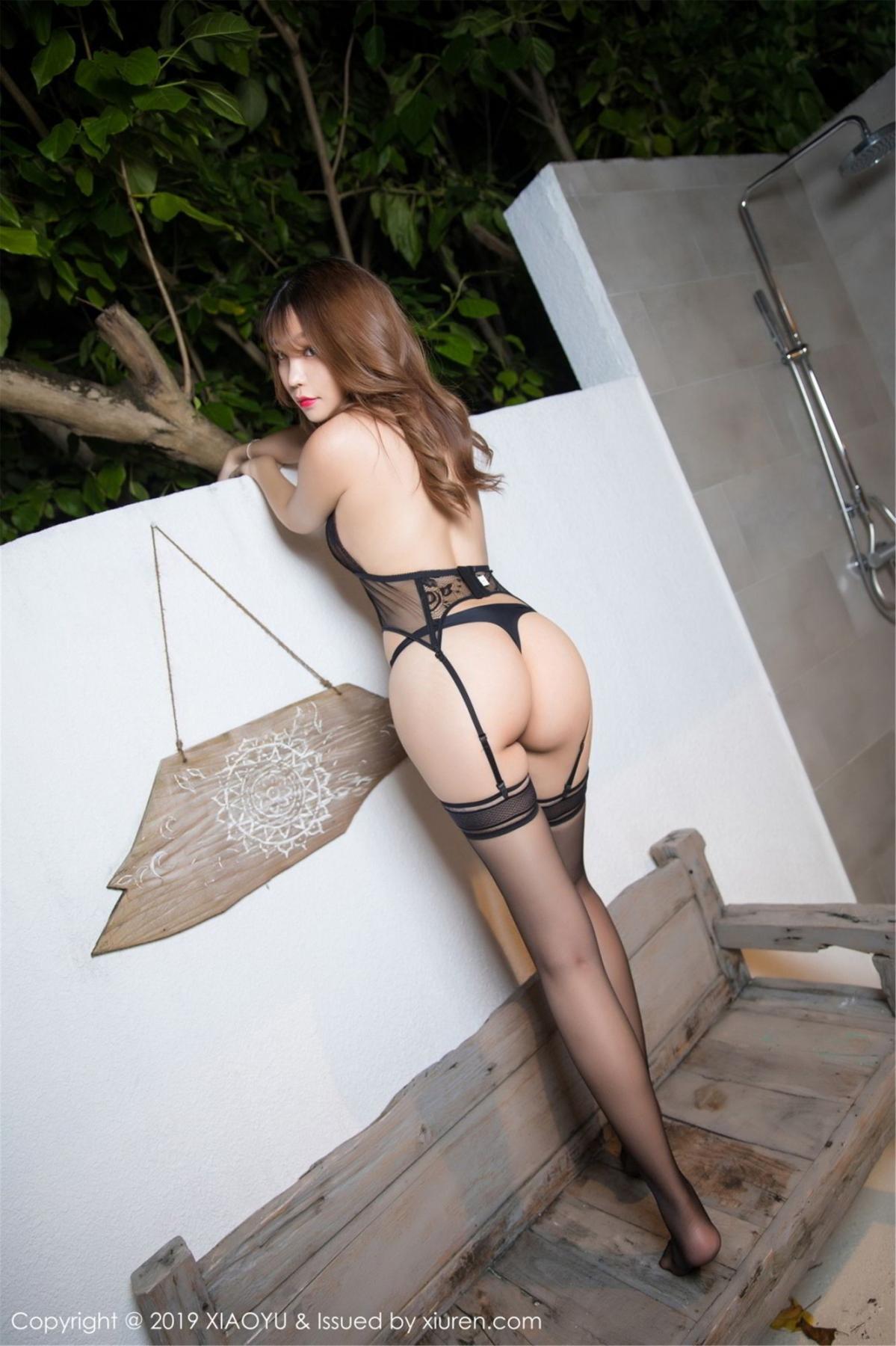 [XiaoYu] Vol.063 Booty 9P, Bathroom, Big Booty, Black Silk, Chen Zhi, XiaoYu