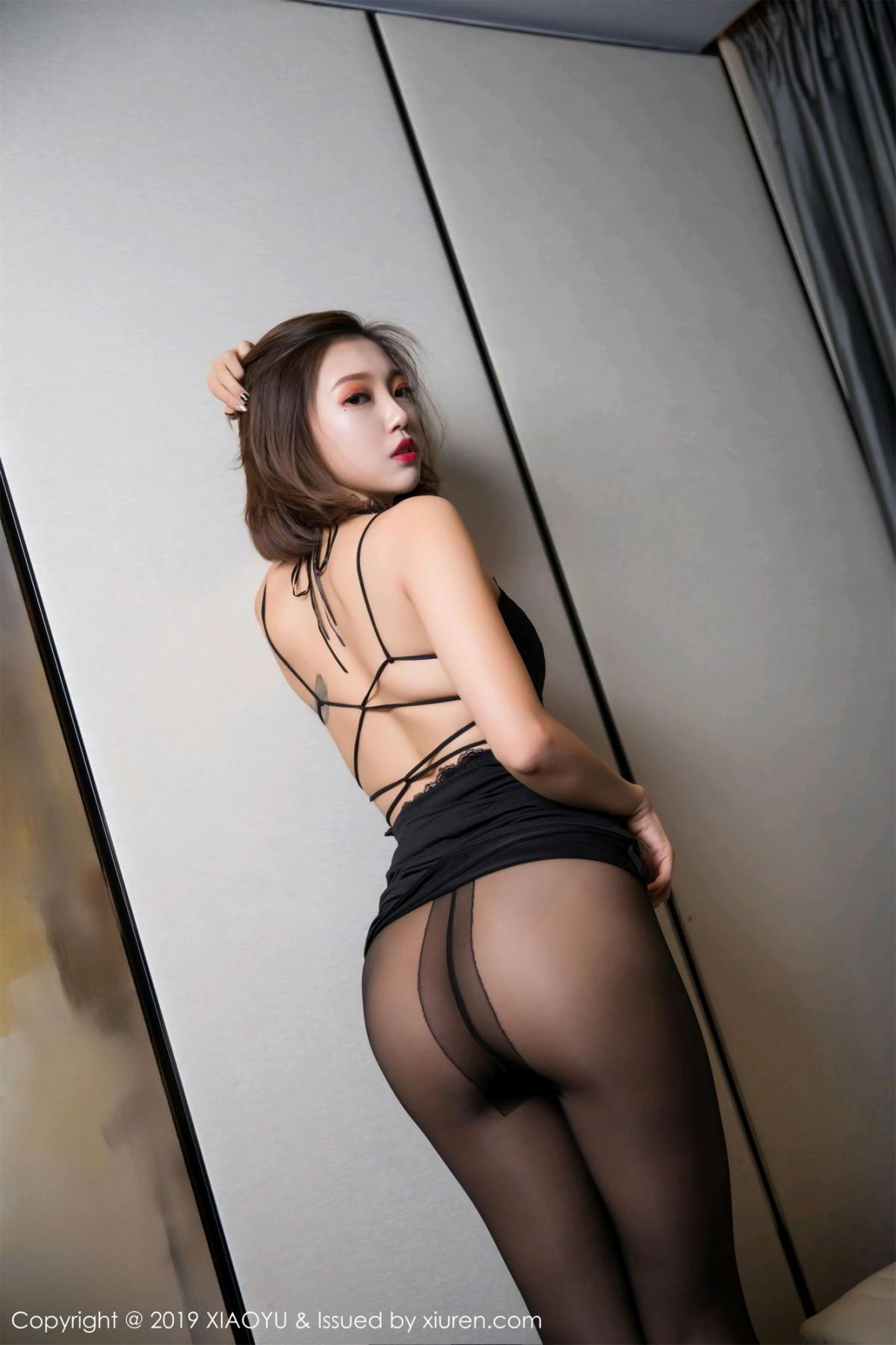 [XiaoYu] Vol.065 Lris 18P, Black Silk, Cool, Feng Mu Mu, Tall, XiaoYu
