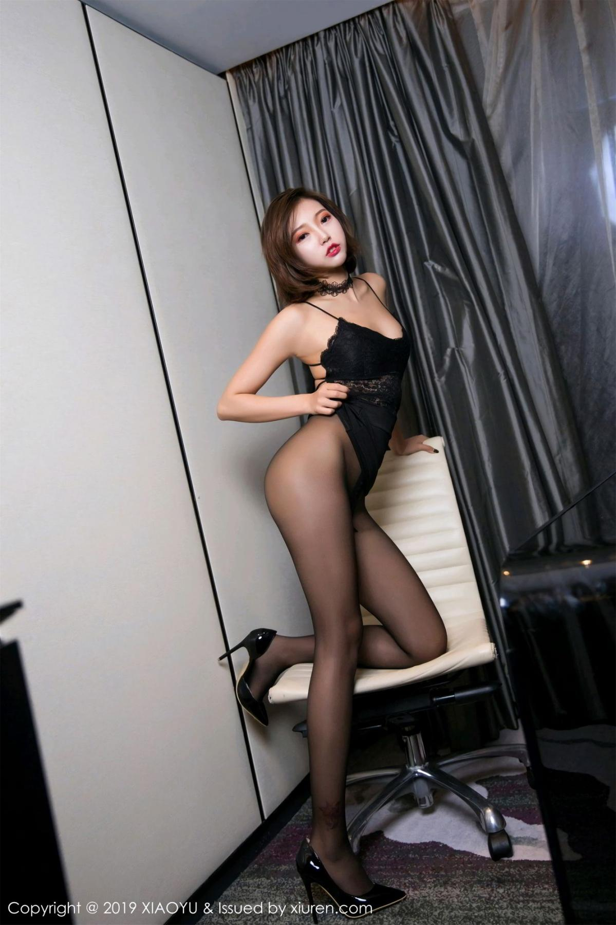 [XiaoYu] Vol.065 Lris 1P, Black Silk, Cool, Feng Mu Mu, Tall, XiaoYu
