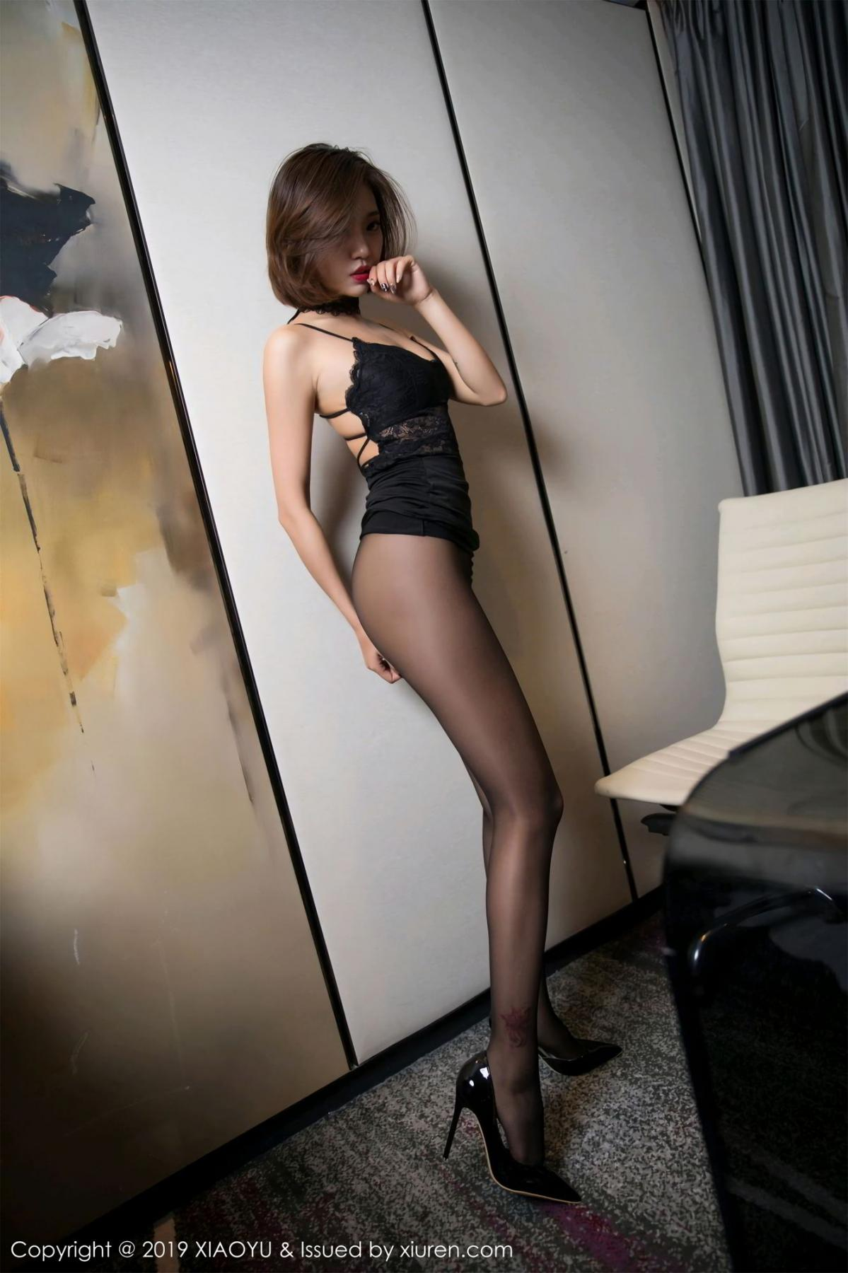 [XiaoYu] Vol.065 Lris 22P, Black Silk, Cool, Feng Mu Mu, Tall, XiaoYu