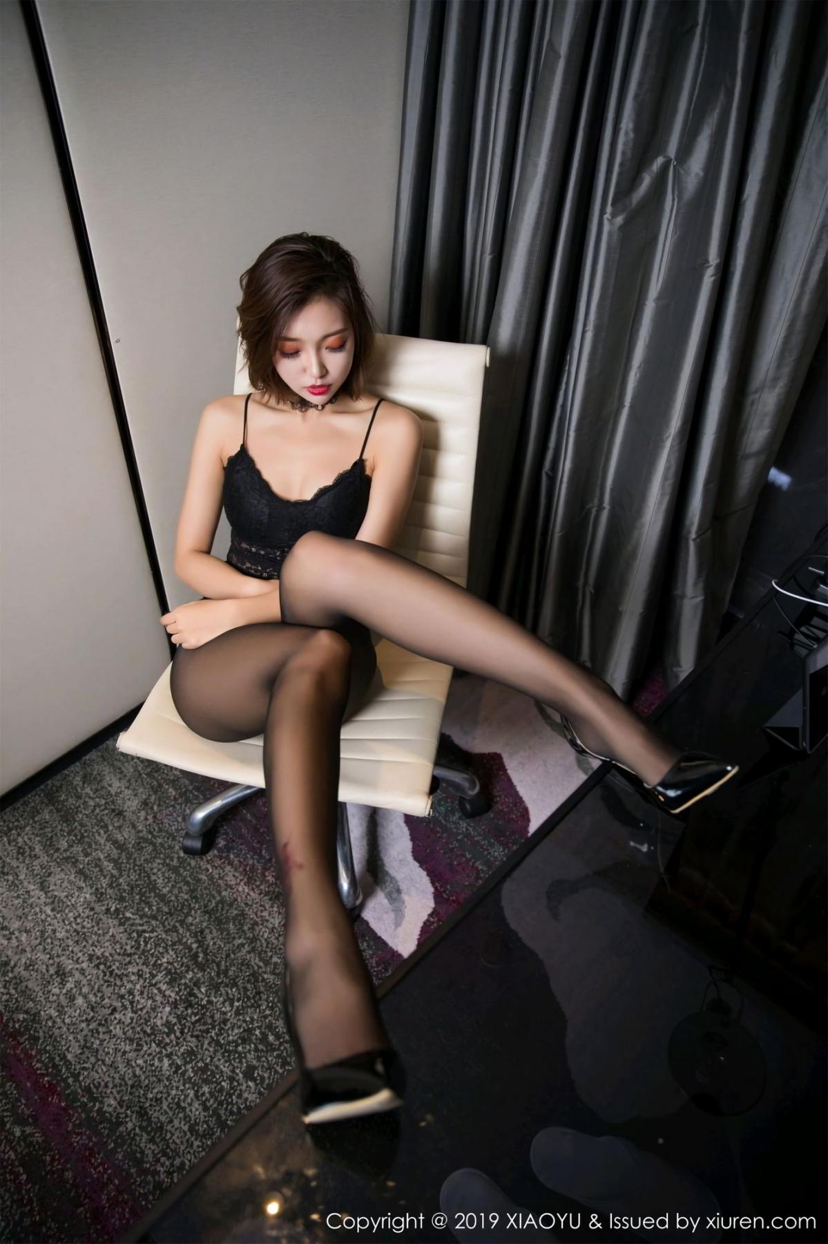 [XiaoYu] Vol.065 Lris 36P, Black Silk, Cool, Feng Mu Mu, Tall, XiaoYu