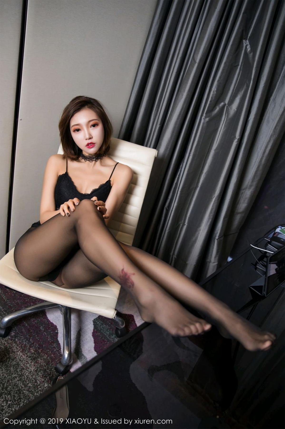 [XiaoYu] Vol.065 Lris 45P, Black Silk, Cool, Feng Mu Mu, Tall, XiaoYu