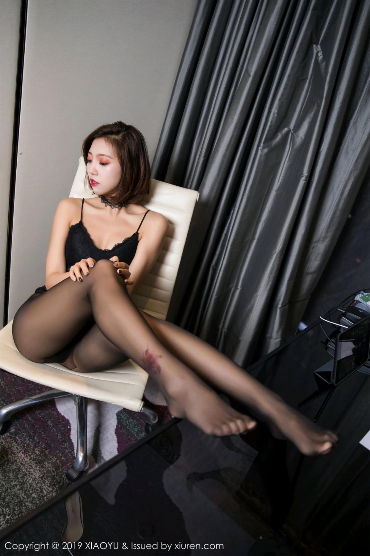 [XiaoYu] Vol.065 Lris 46P, Black Silk, Cool, Feng Mu Mu, Tall, XiaoYu
