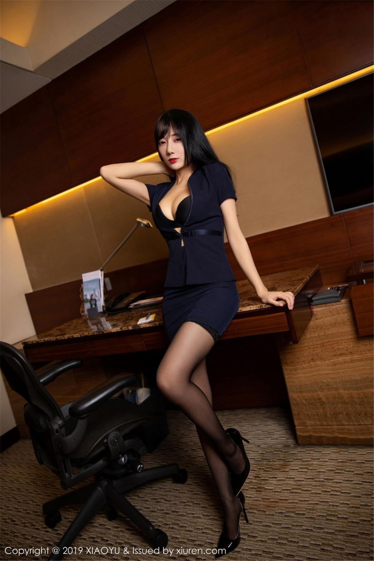 [XiaoYu] Vol.068 He Jia Ying 10P, Black Silk, He Jia Ying, Uniform, XiaoYu