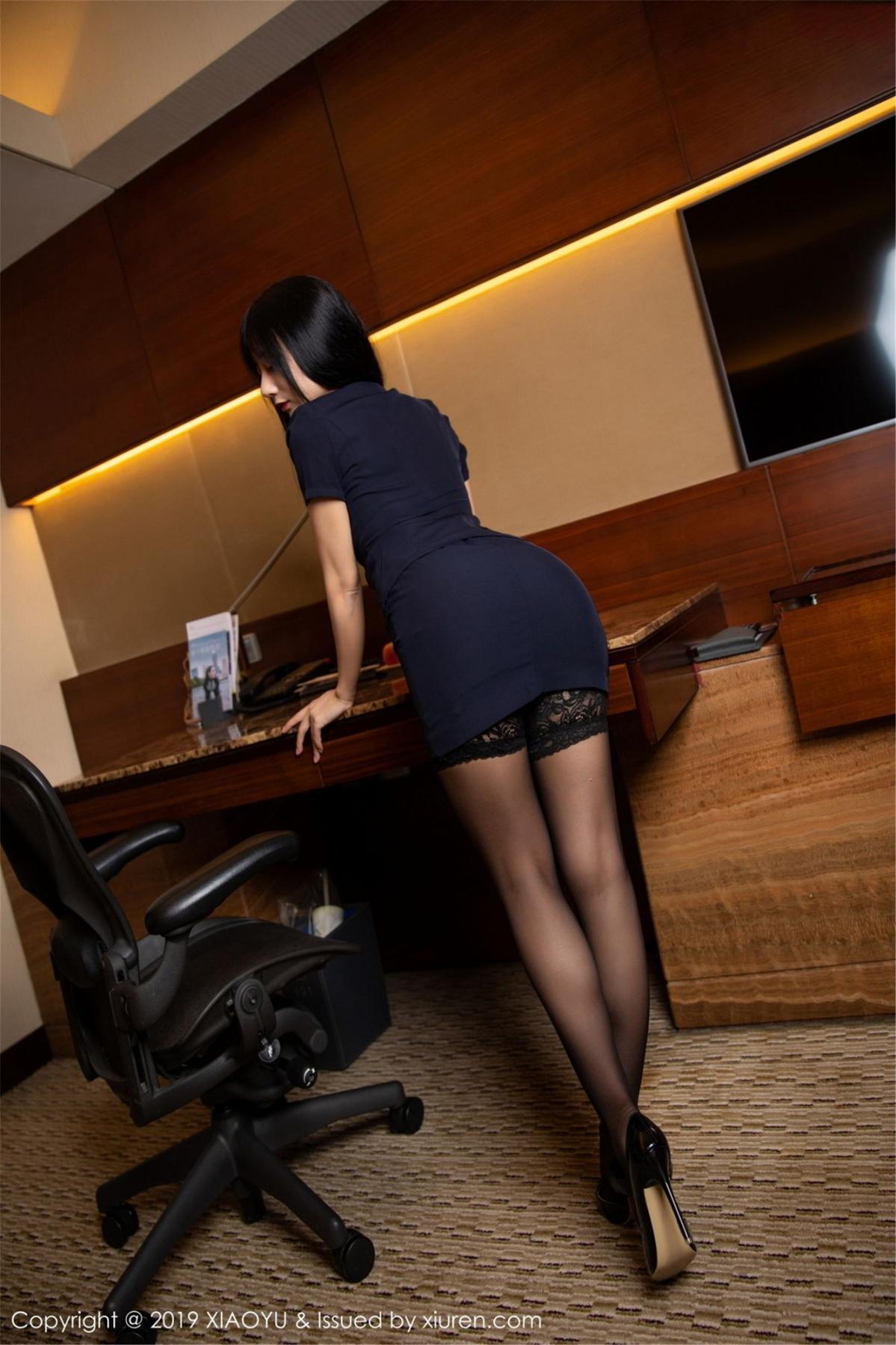 [XiaoYu] Vol.068 He Jia Ying 12P, Black Silk, He Jia Ying, Uniform, XiaoYu