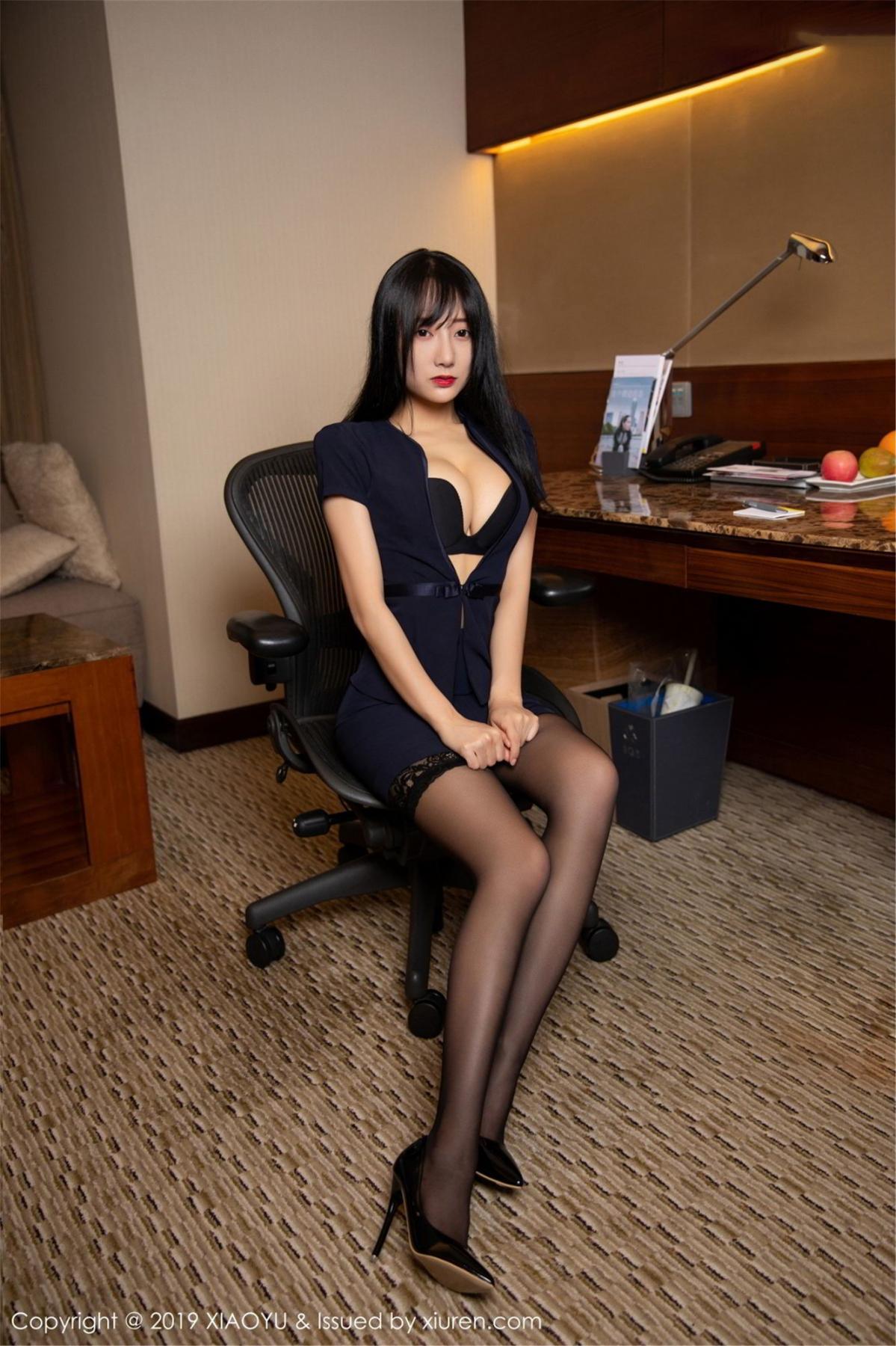 [XiaoYu] Vol.068 He Jia Ying 20P, Black Silk, He Jia Ying, Uniform, XiaoYu